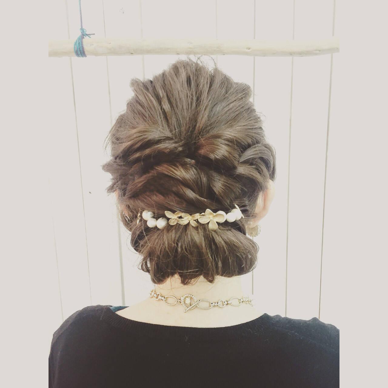 ゆるふわ ギブソンタック ミディアム ナチュラルヘアスタイルや髪型の写真・画像