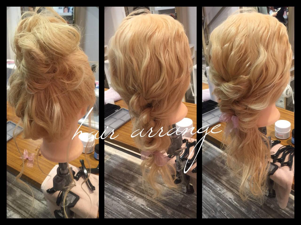 簡単ヘアアレンジ セミロング ヘアアレンジ お団子ヘアスタイルや髪型の写真・画像