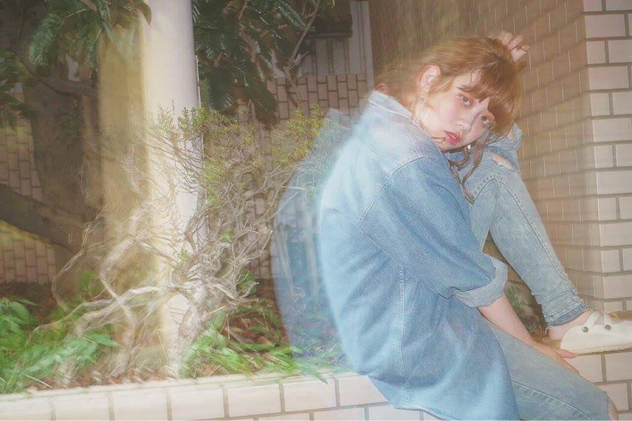 ミディアム アンニュイ ストリート 簡単ヘアアレンジヘアスタイルや髪型の写真・画像