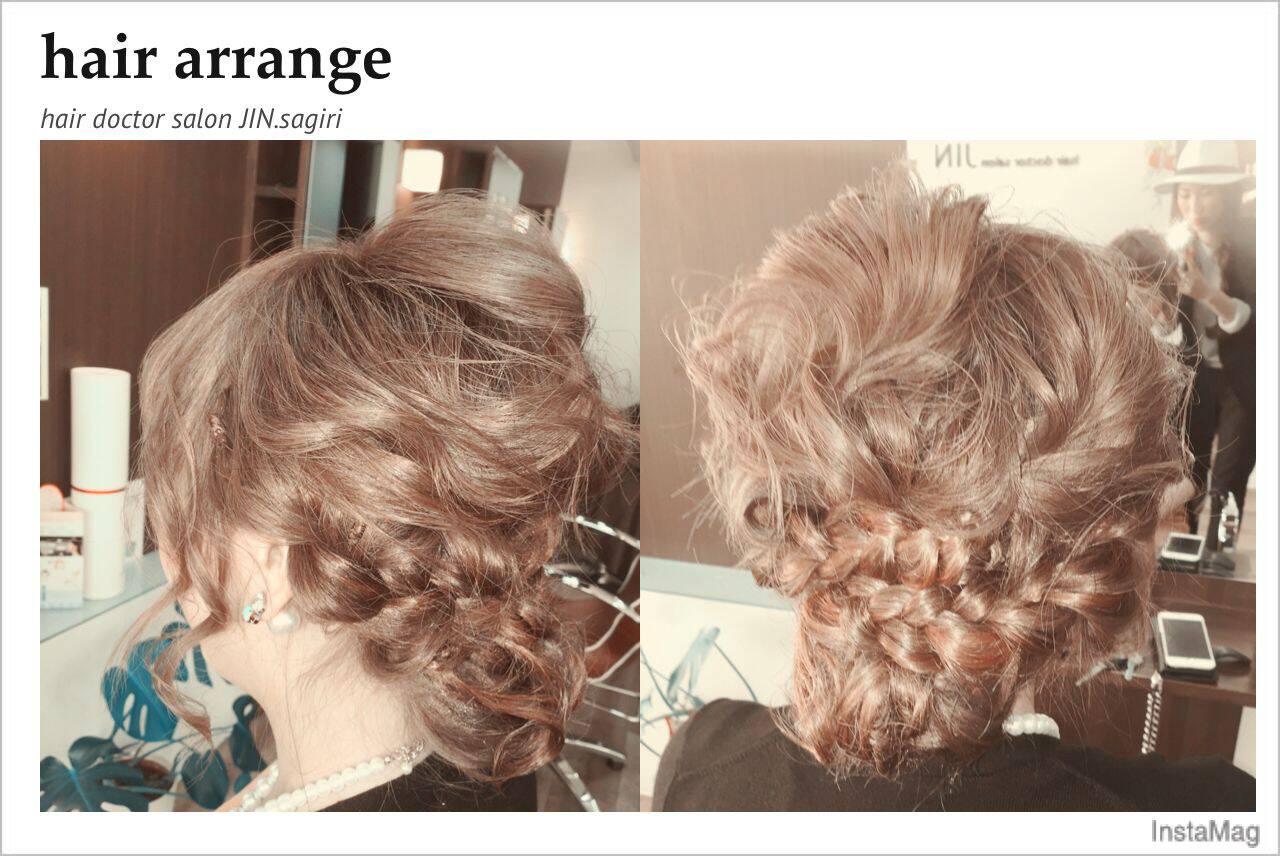 ギブソンタック コンサバ モテ髪 ヘアアレンジヘアスタイルや髪型の写真・画像