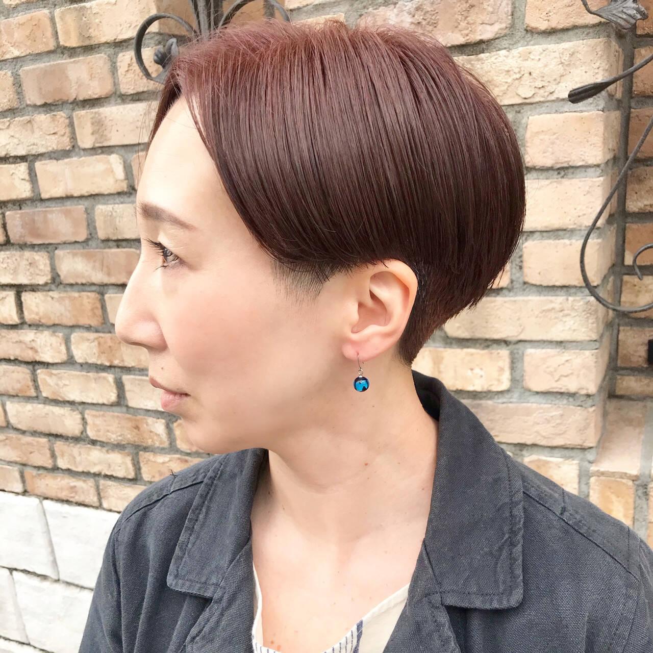 刈り上げショート ショート モード 刈り上げ女子ヘアスタイルや髪型の写真・画像
