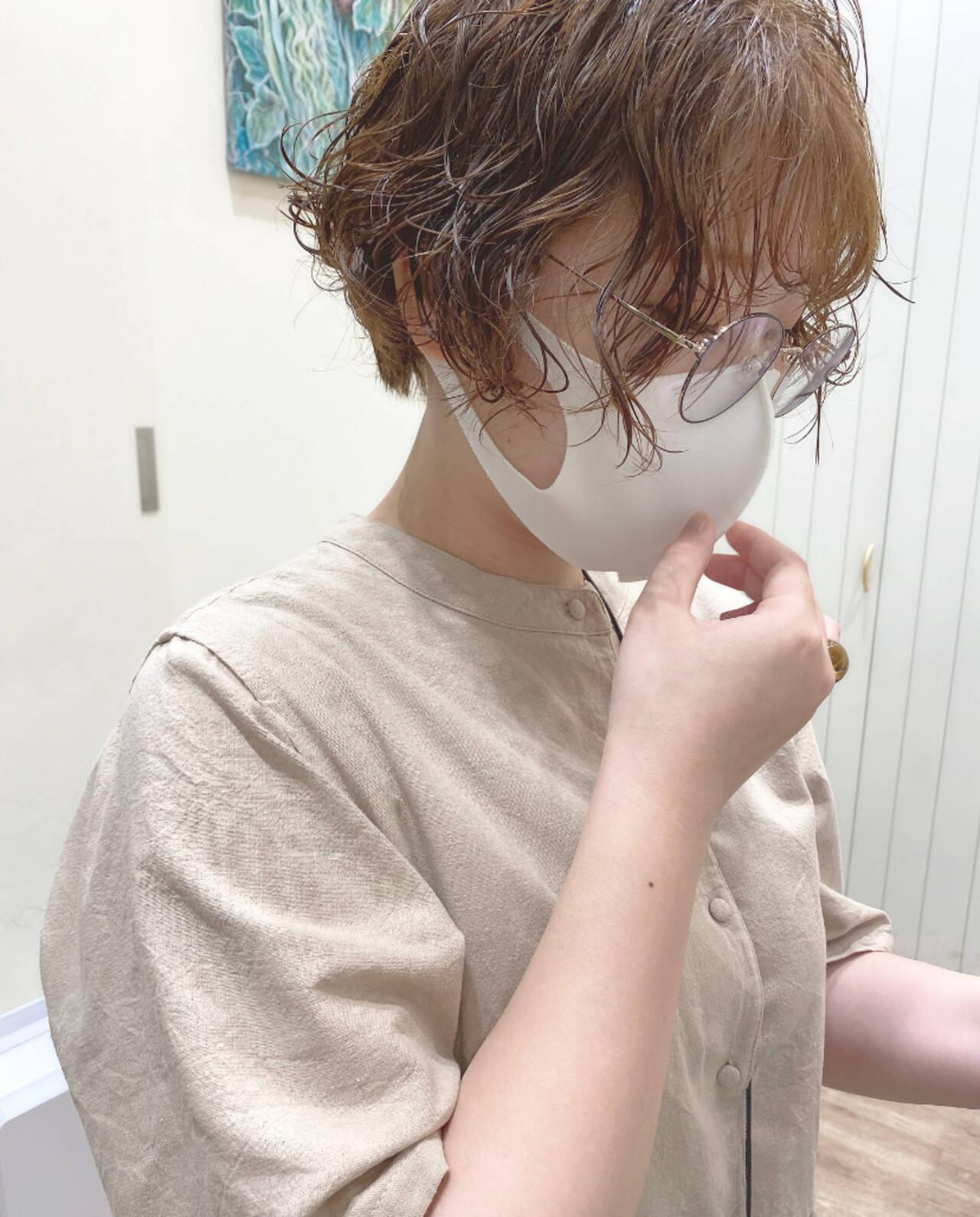 モテ髪 ショート 韓国ヘア フェミニンヘアスタイルや髪型の写真・画像