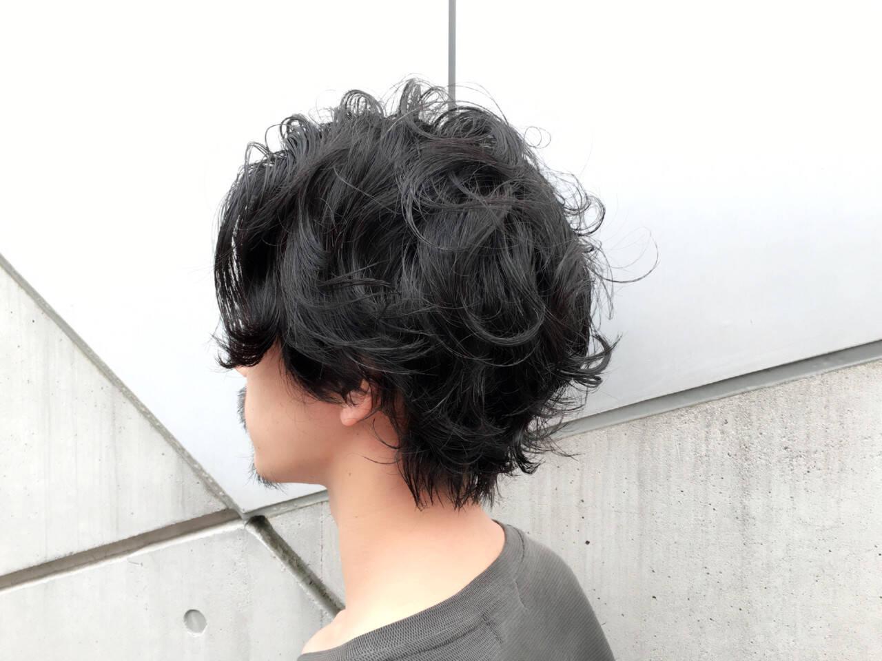 黒髪 ショート モテ髪 ミディアムヘアスタイルや髪型の写真・画像
