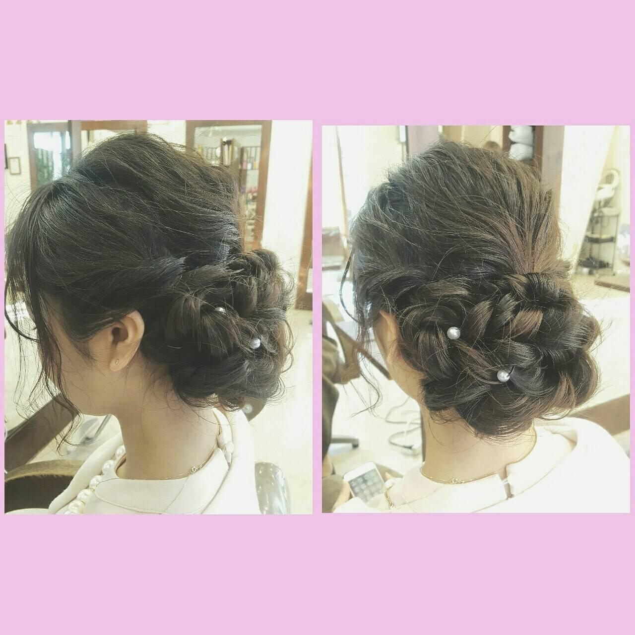 外国人風 ロング 簡単ヘアアレンジ ヘアアレンジヘアスタイルや髪型の写真・画像