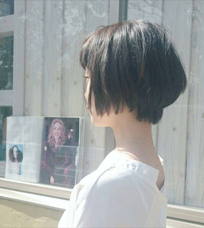 おフェロ 透明感 ショート フェミニンヘアスタイルや髪型の写真・画像