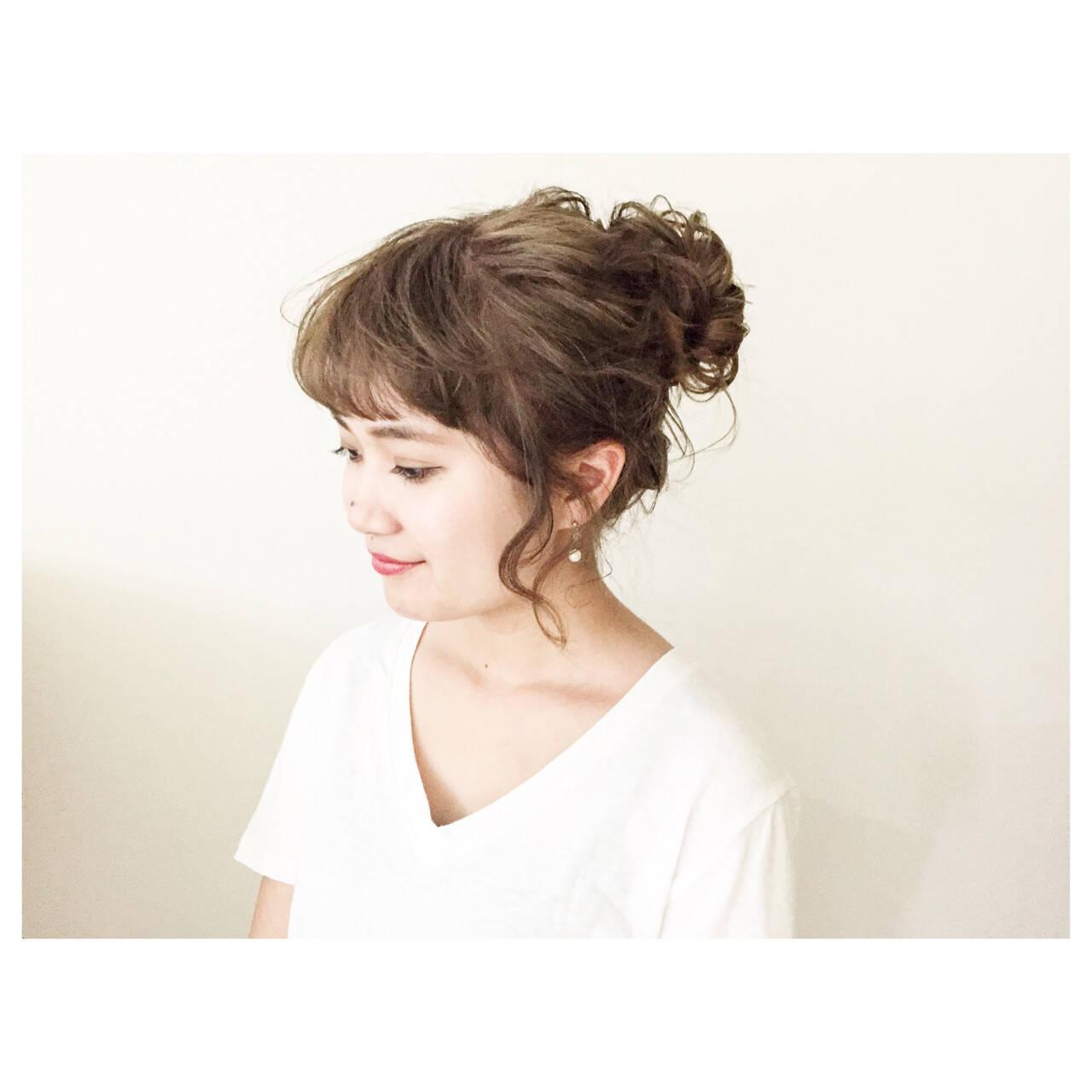 ルーズ ゆるふわ ヘアアレンジ 夏ヘアスタイルや髪型の写真・画像
