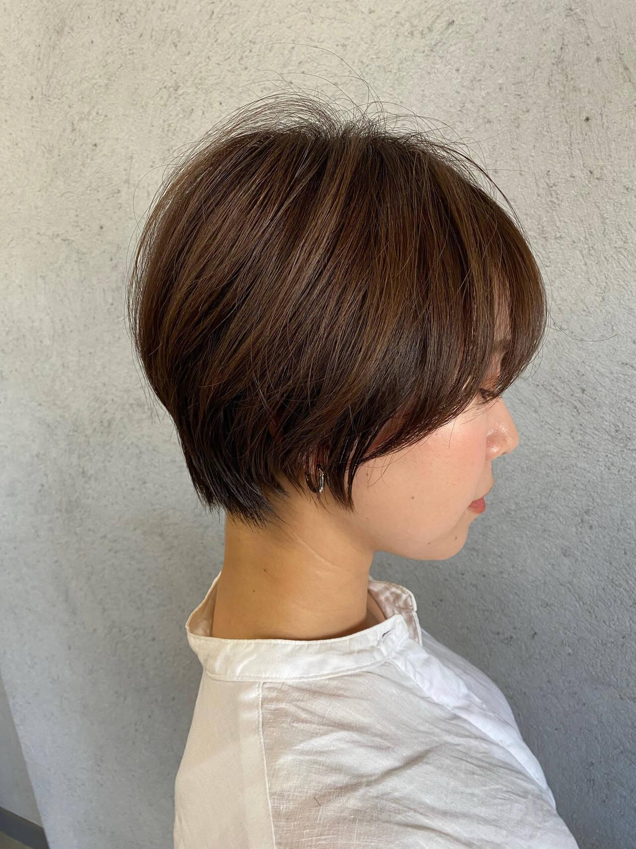 ベリーショート ナチュラル ショートヘア ミニボブヘアスタイルや髪型の写真・画像