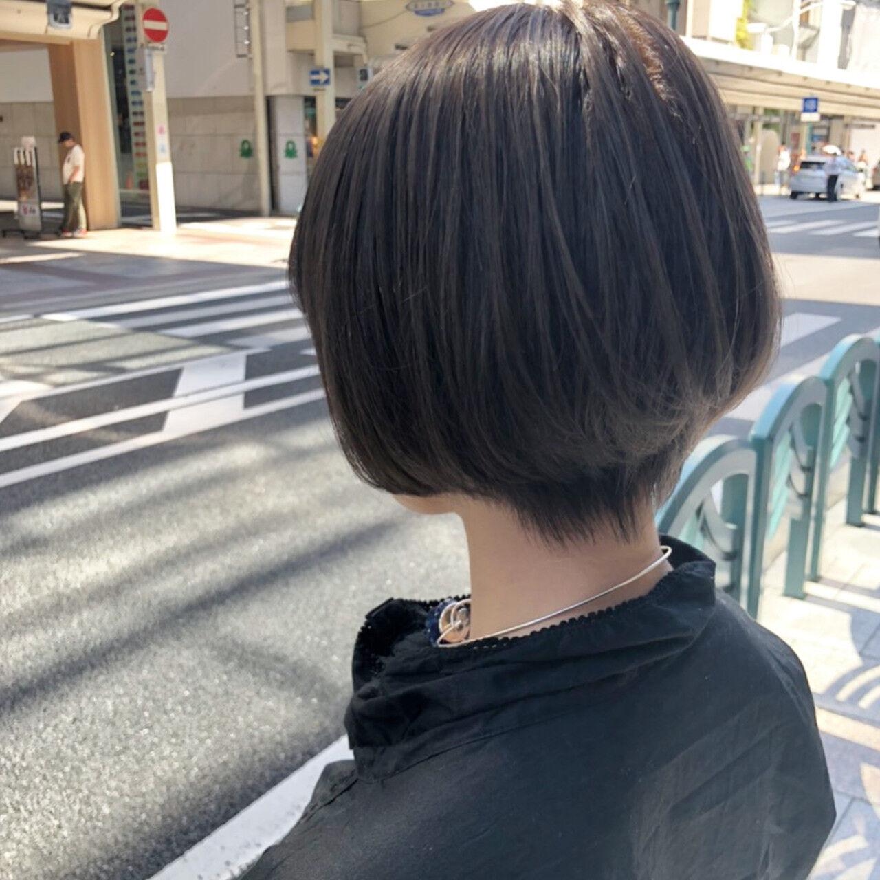 ショートボブ ミニボブ ショートヘア ショートヘアスタイルや髪型の写真・画像