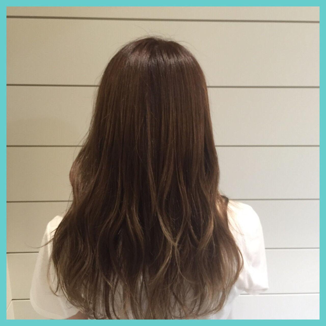 ナチュラル グラデーションカラー ゆるふわ ハイライトヘアスタイルや髪型の写真・画像