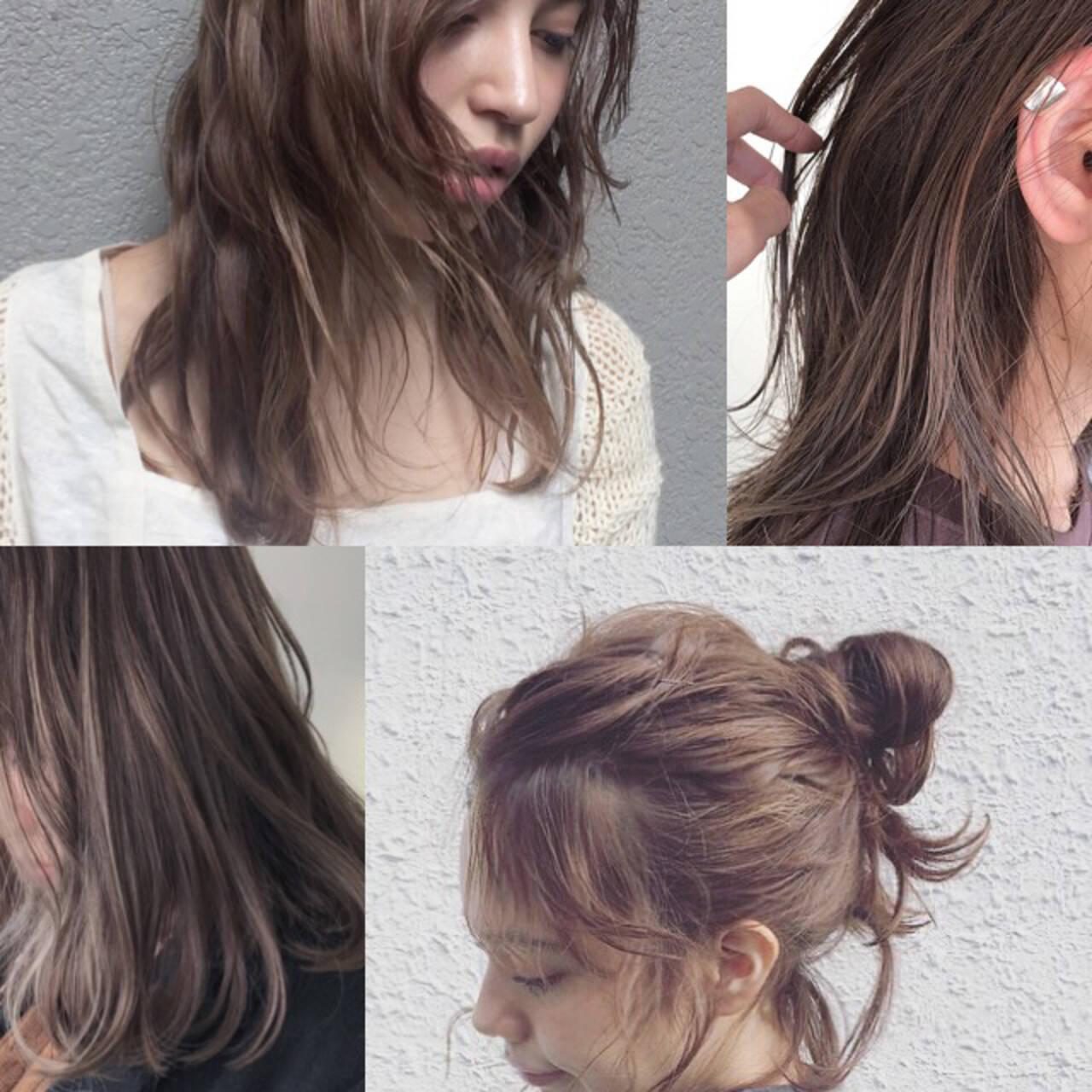 簡単ヘアアレンジ パーマ ナチュラル ミディアムヘアスタイルや髪型の写真・画像
