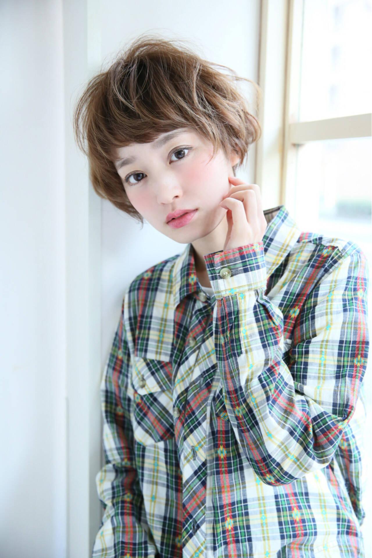 外国人風 ストリート ショートボブ ショートヘアスタイルや髪型の写真・画像