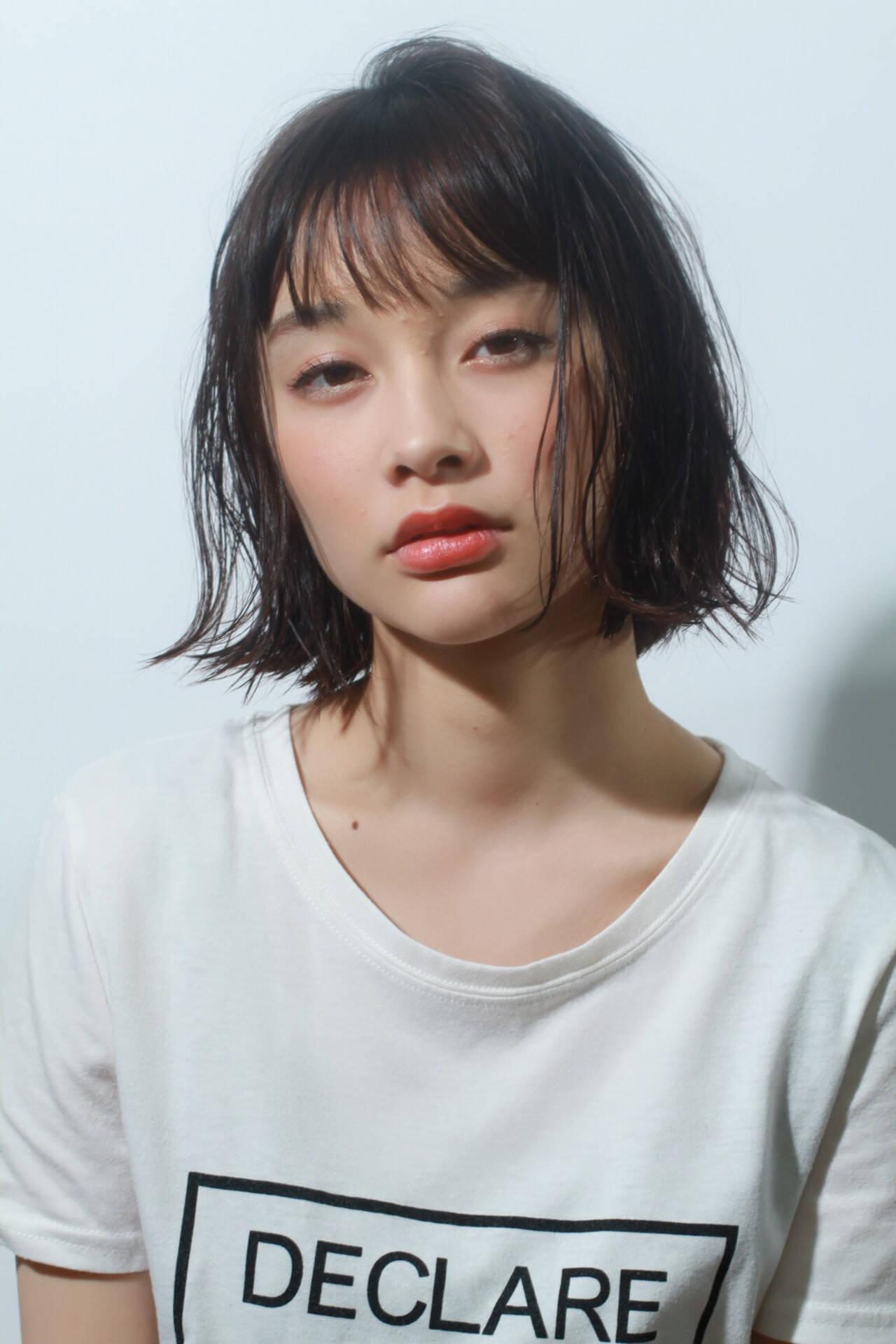 ナチュラル 無造作ヘア 外はね 簡単スタイリングヘアスタイルや髪型の写真・画像