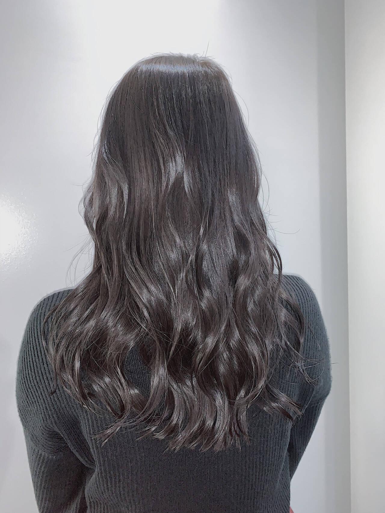 ロング ナチュラル 透明感カラー 大人ロングヘアスタイルや髪型の写真・画像
