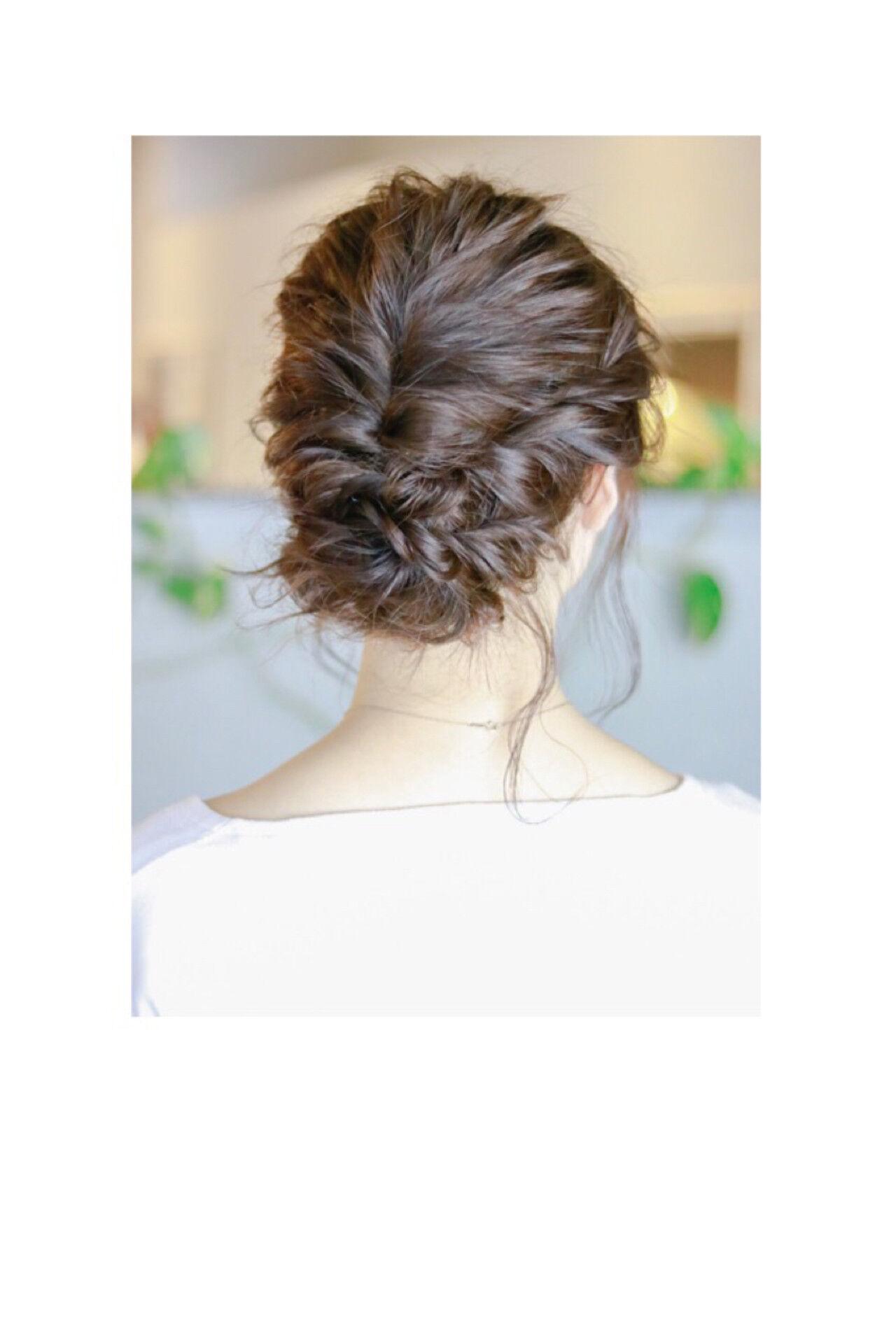ナチュラル ヘアアレンジ 結婚式 デートヘアスタイルや髪型の写真・画像