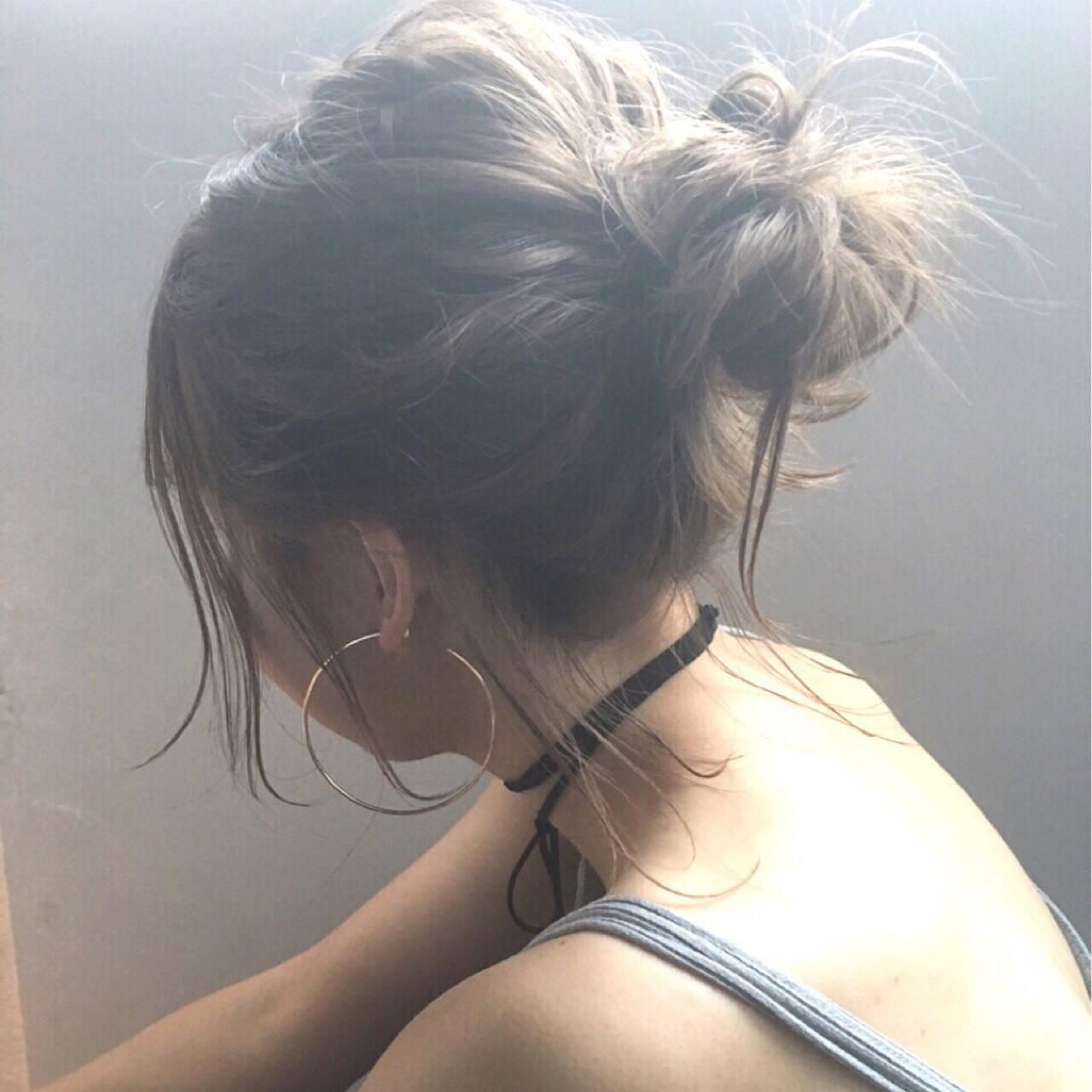 ヘアアレンジ お団子 デート 簡単ヘアアレンジヘアスタイルや髪型の写真・画像