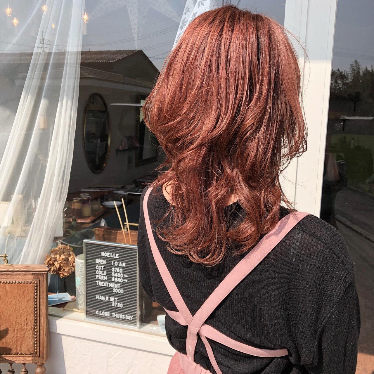 ラベンダーピンク ナチュラル ピンク ピンクアッシュヘアスタイルや髪型の写真・画像