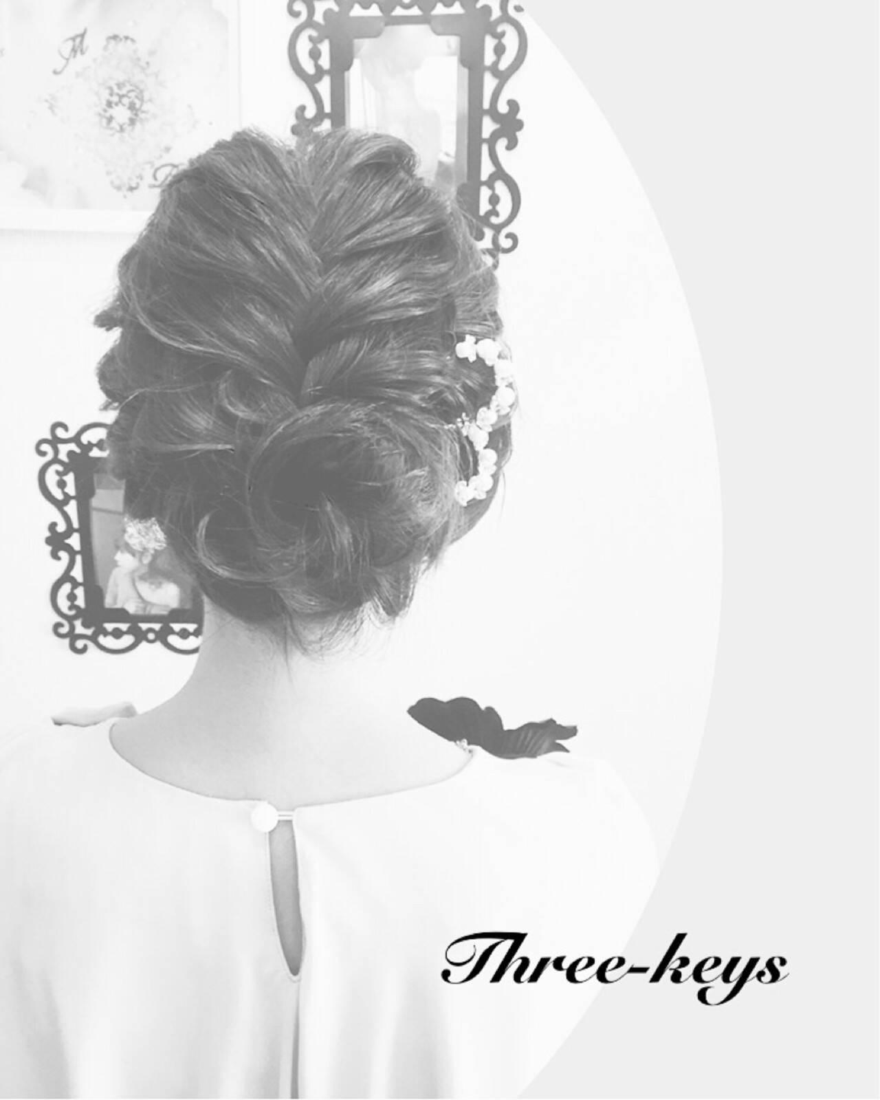 ヘアアレンジ 結婚式 アップスタイル ボブヘアスタイルや髪型の写真・画像