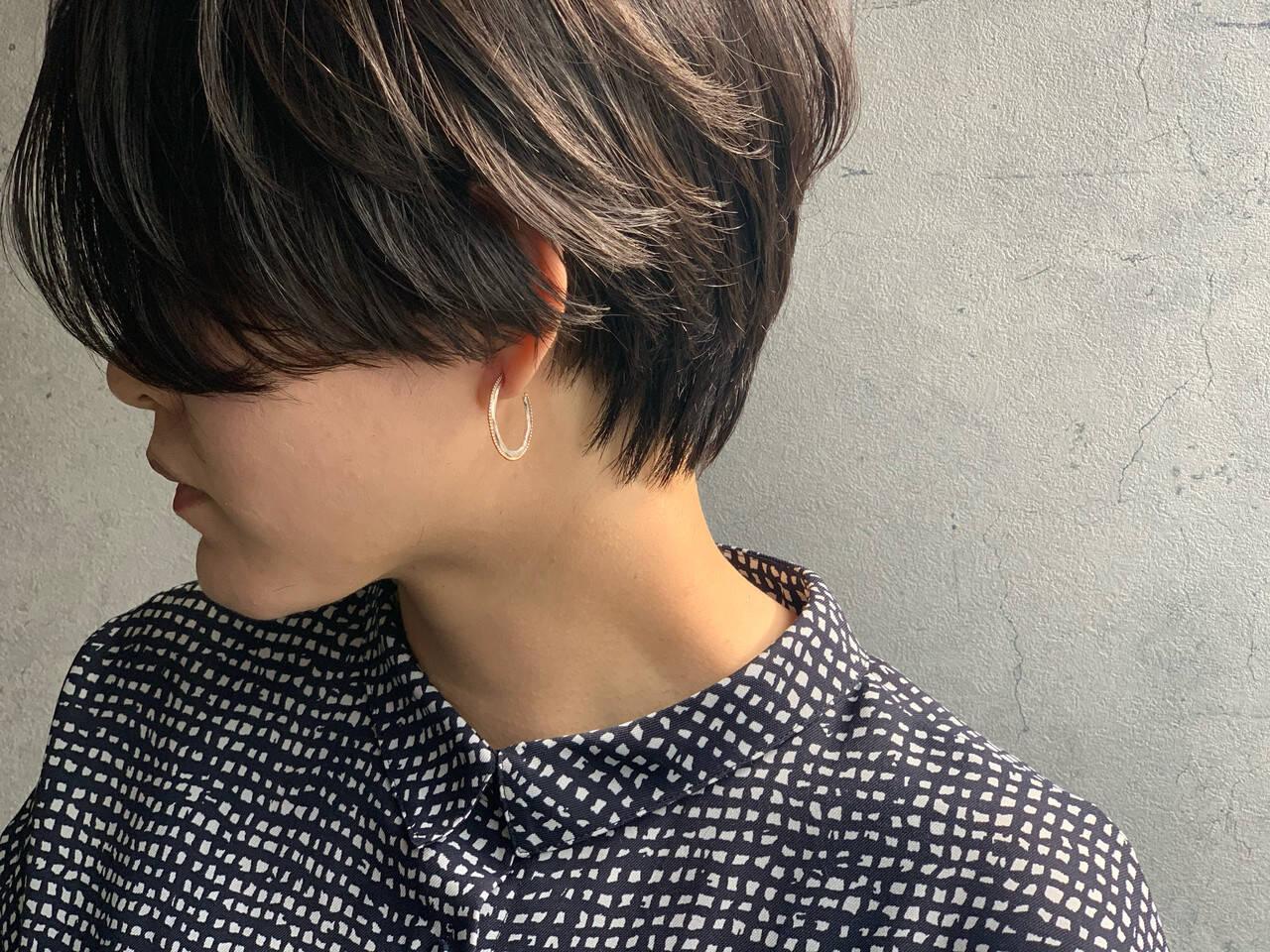 ショート ベリーショート ショートボブ モードヘアスタイルや髪型の写真・画像