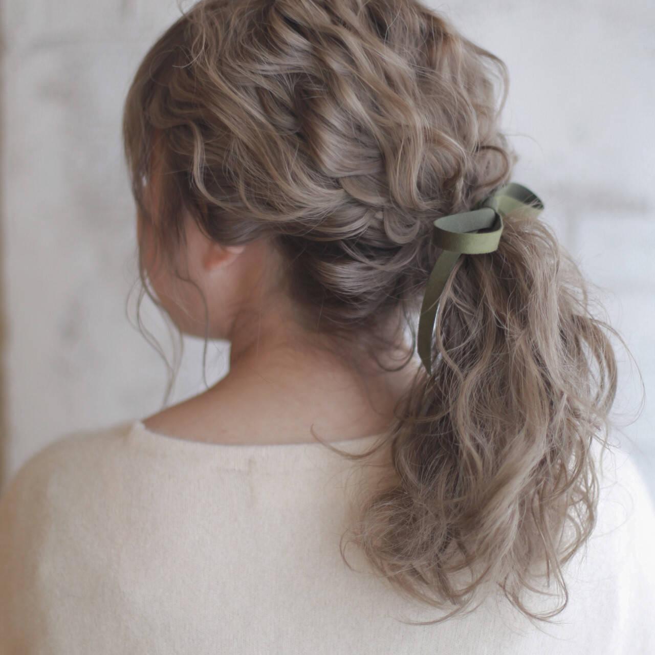 ショート パーマ ヘアアレンジ ミディアムヘアスタイルや髪型の写真・画像