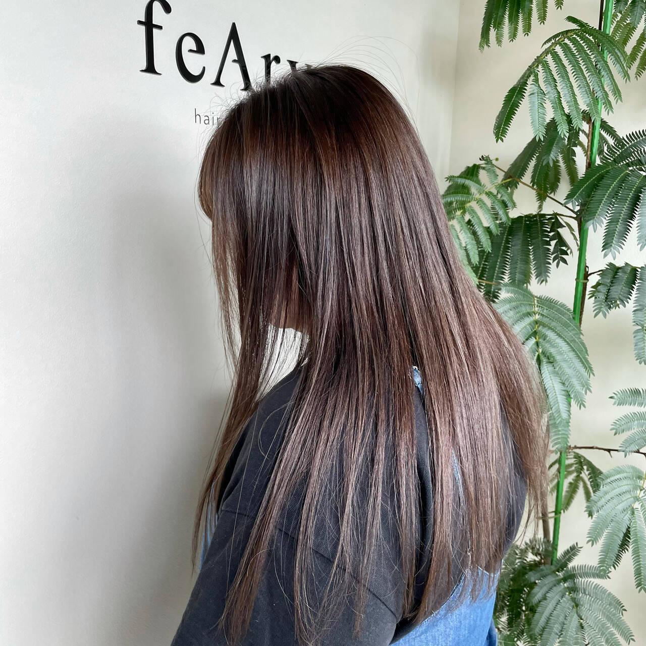 髪質改善カラー ナチュラル ロング 髪質改善トリートメントヘアスタイルや髪型の写真・画像