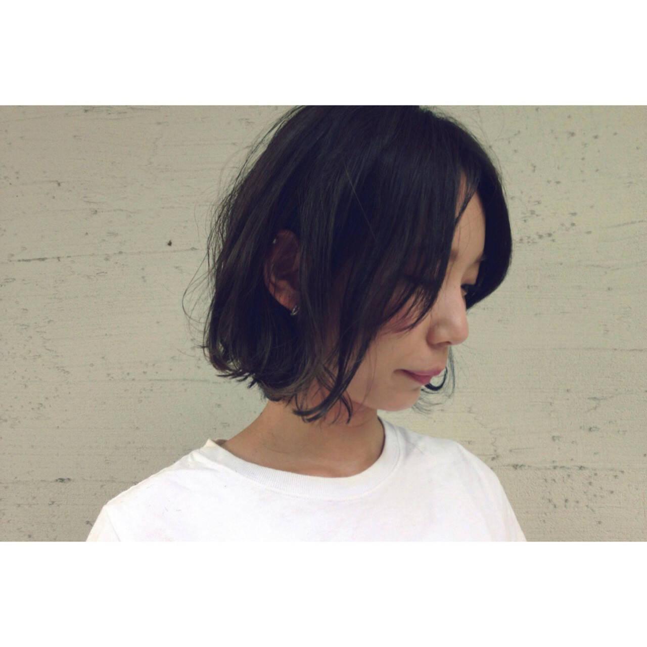 ナチュラル 暗髪 色気 ゆるふわヘアスタイルや髪型の写真・画像