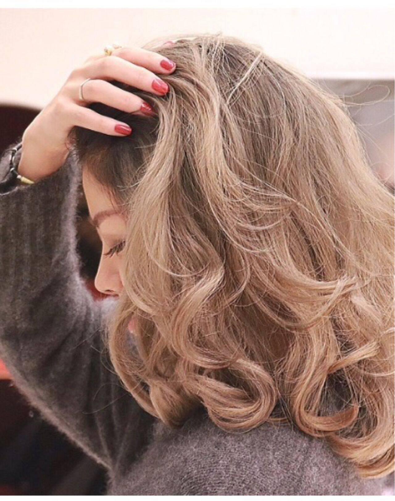 ハイトーン ミディアム 外国人風 ストリートヘアスタイルや髪型の写真・画像