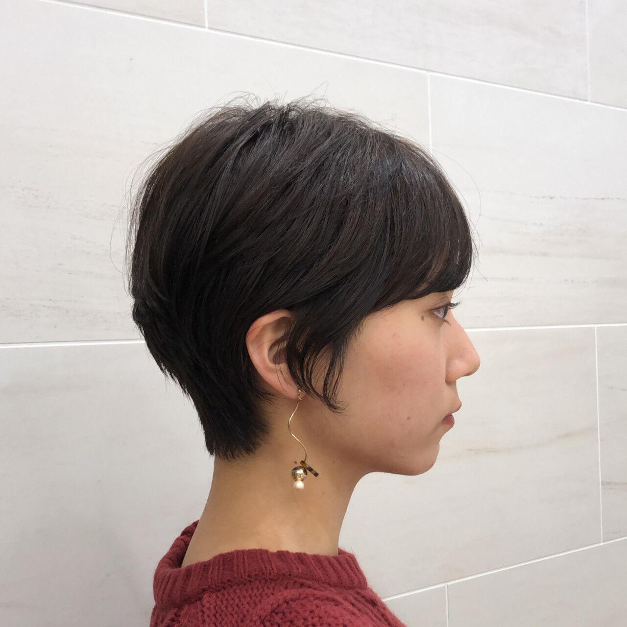 ショート ナチュラル ハンサムショート ヘアアレンジヘアスタイルや髪型の写真・画像
