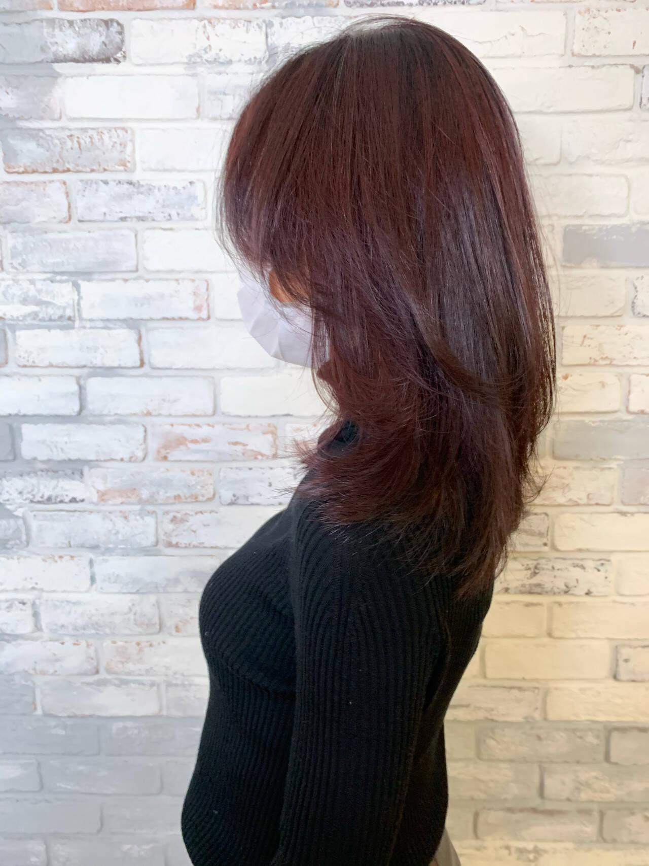 韓国ヘア ナチュラル ミディアム ゆるふわヘアスタイルや髪型の写真・画像