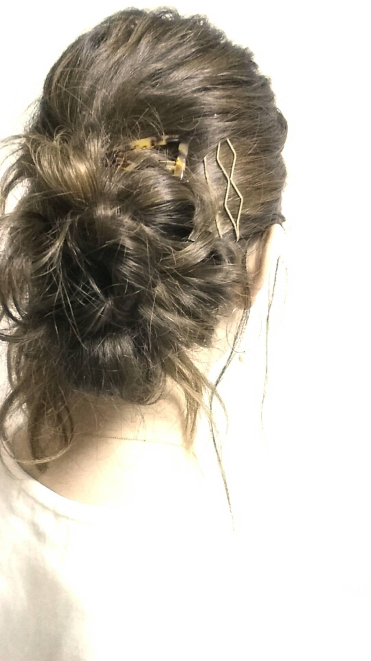 ゆるふわ ヘアアレンジ ロング 簡単ヘアアレンジヘアスタイルや髪型の写真・画像