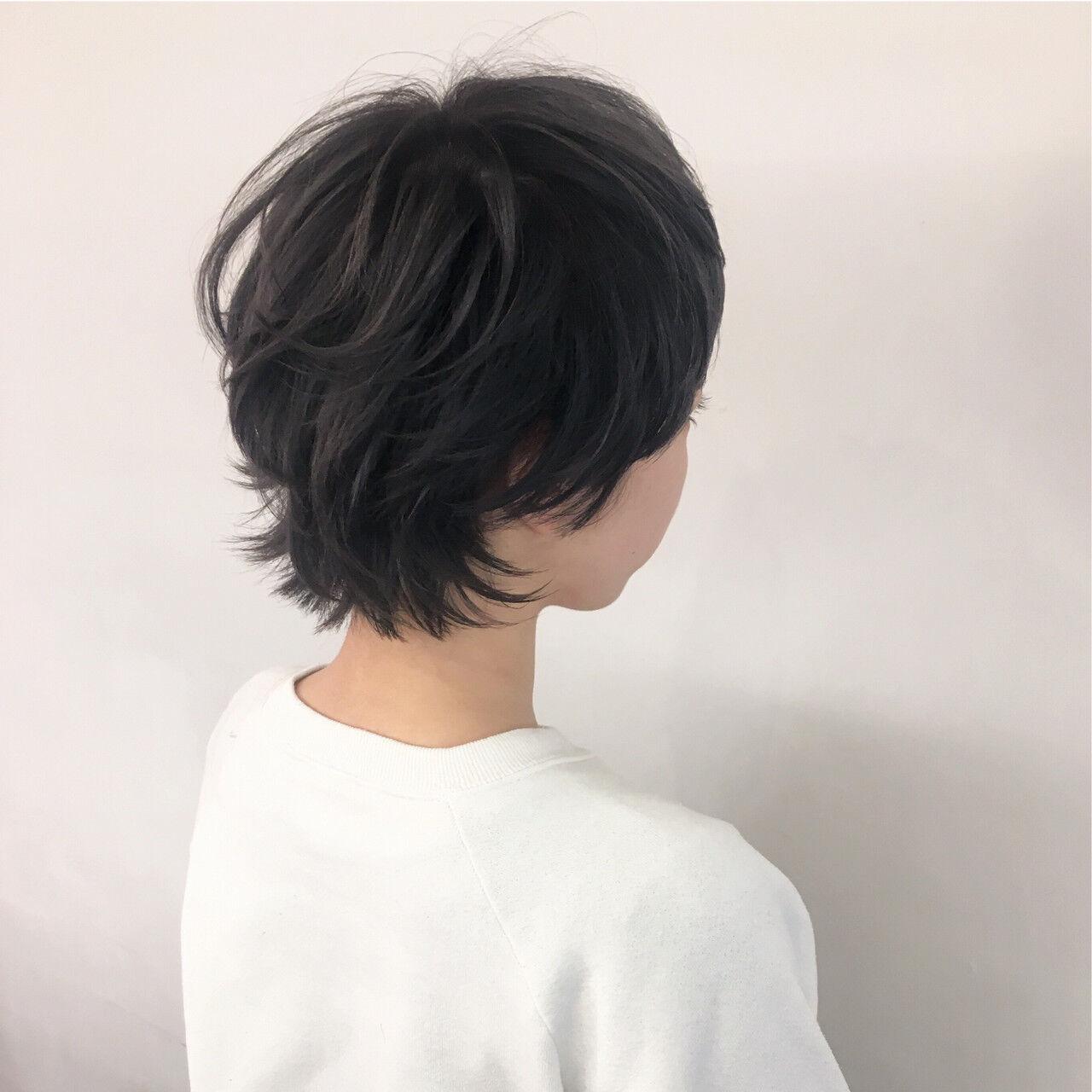 ショート ハイトーン モード ハイトーンカラーヘアスタイルや髪型の写真・画像