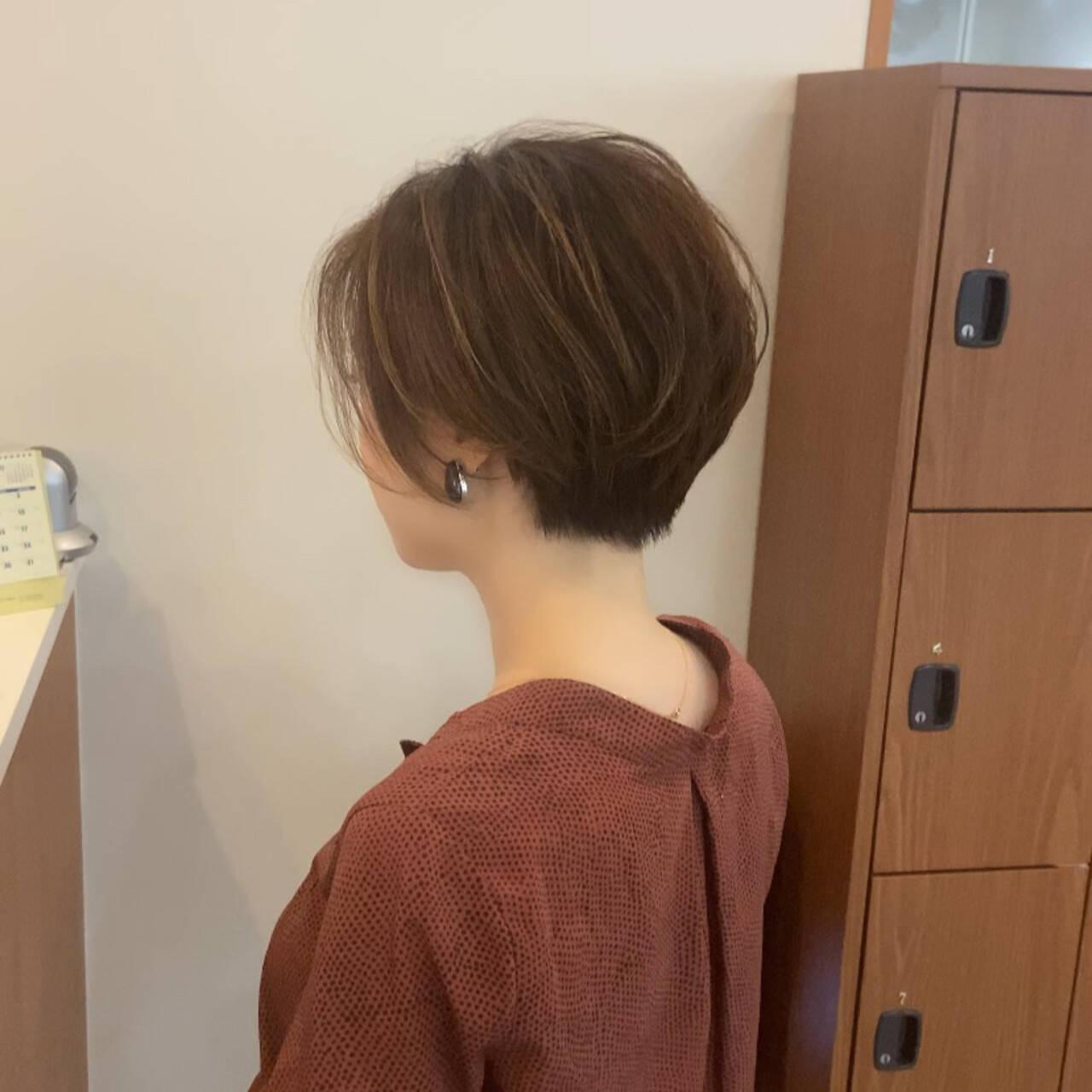 ショートボブ ショートヘア ショート ベリーショートヘアスタイルや髪型の写真・画像