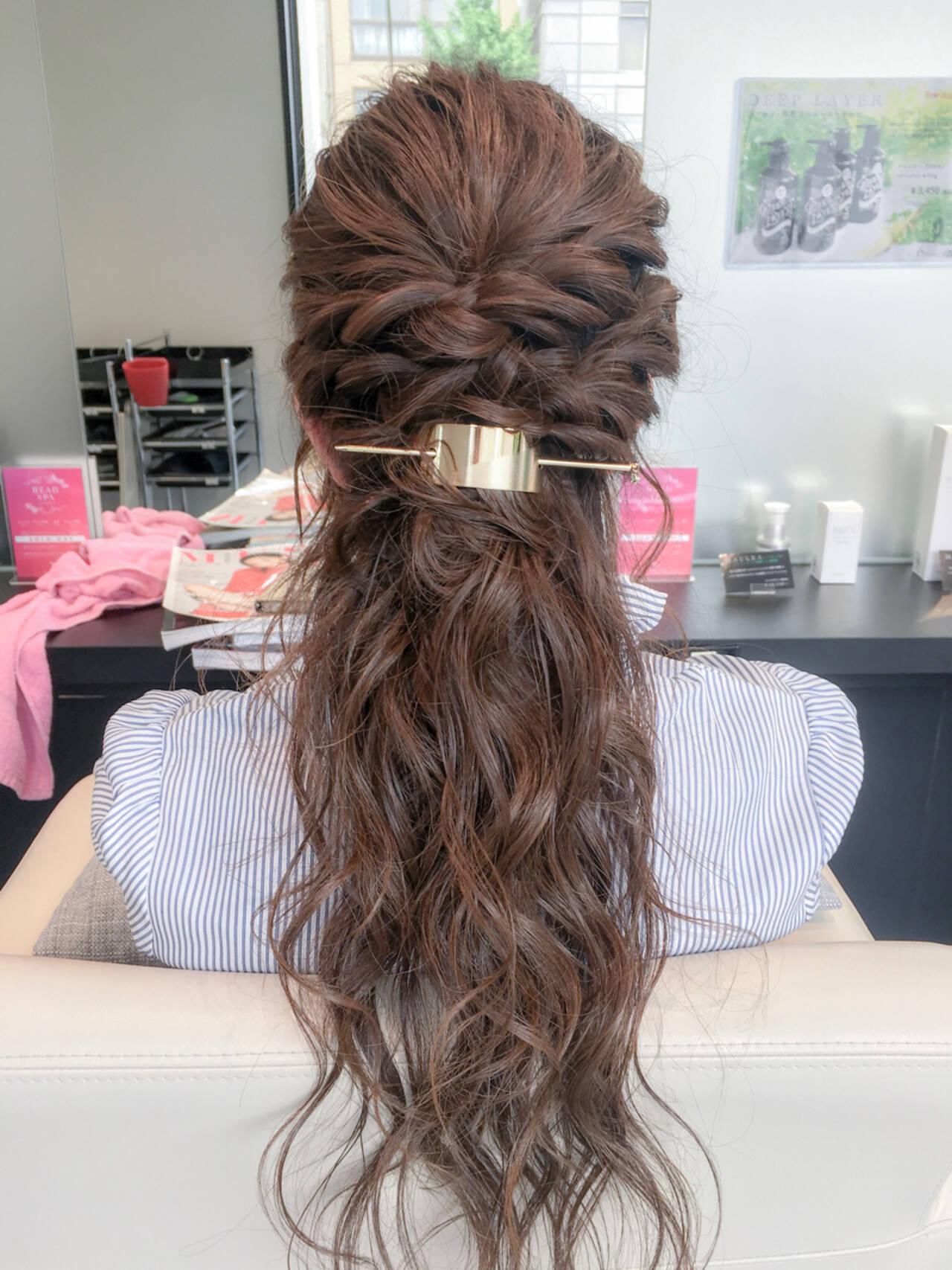 ルーズ フェミニン デート ヘアアレンジヘアスタイルや髪型の写真・画像