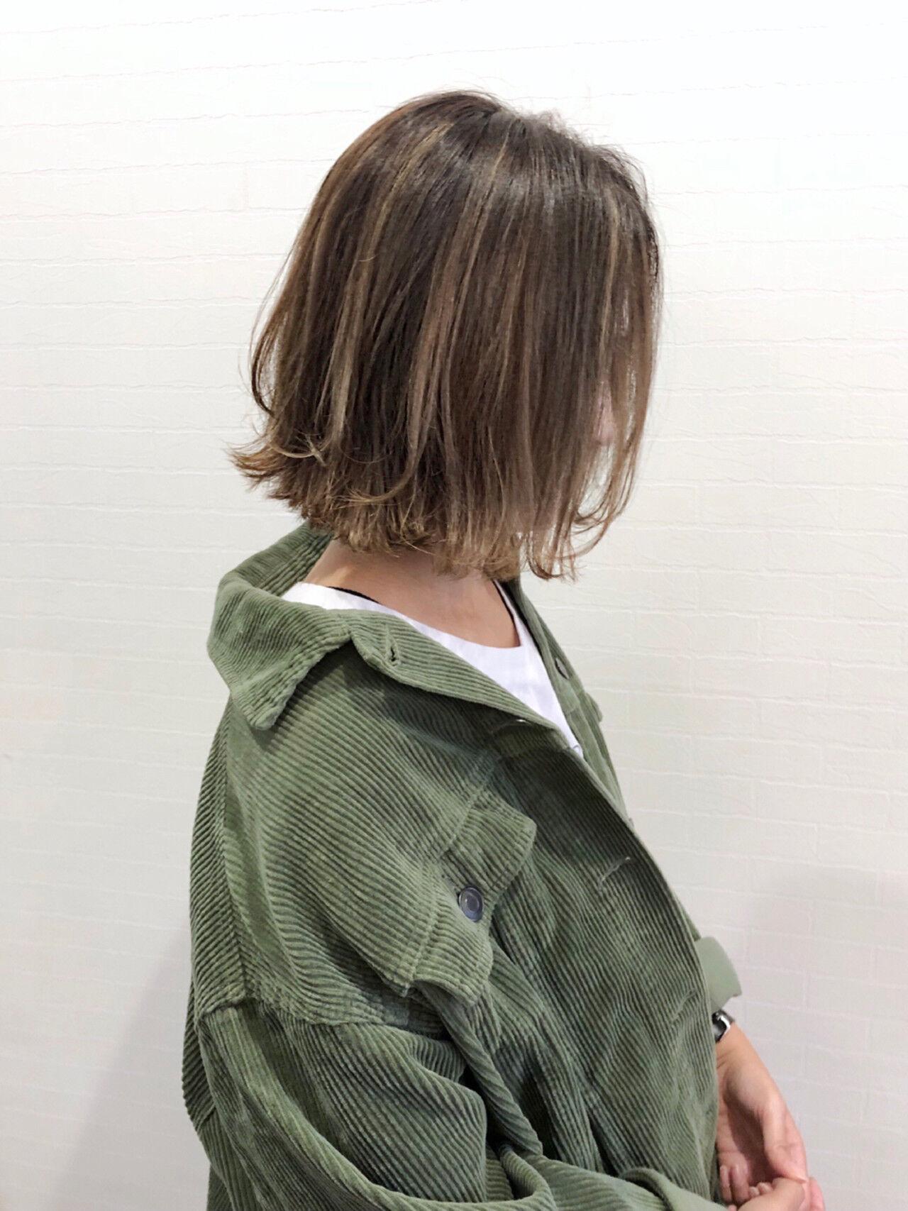 グレージュ 外国人風 ストリート ボブヘアスタイルや髪型の写真・画像