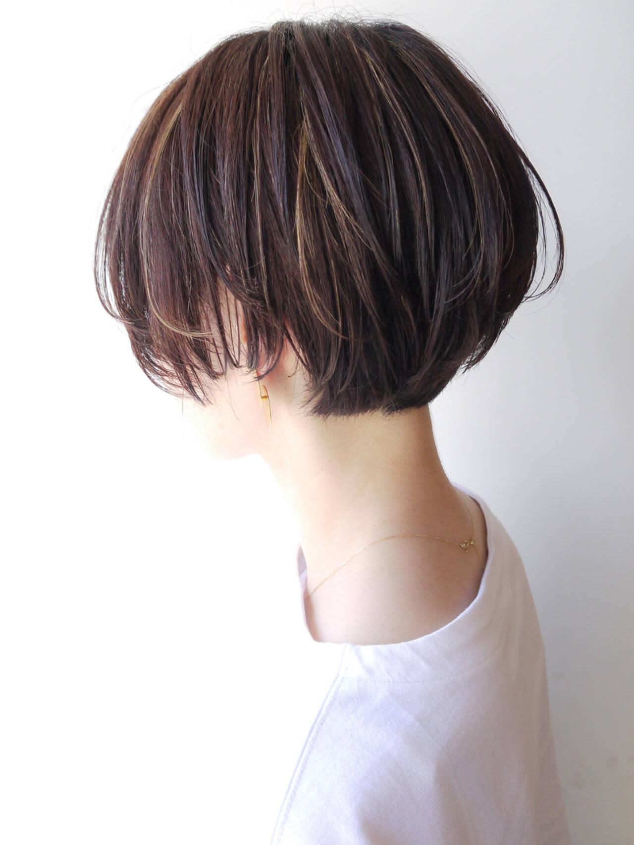 オフィス ショート コンサバ 大人かわいいヘアスタイルや髪型の写真・画像
