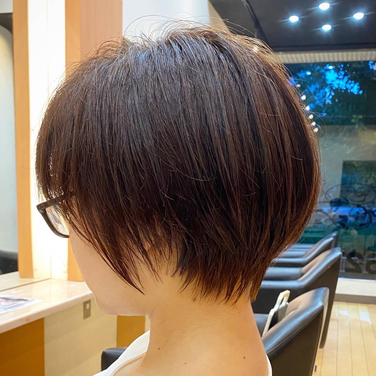 ショートボブ 大人ショート 小顔ショート ショートヘアヘアスタイルや髪型の写真・画像