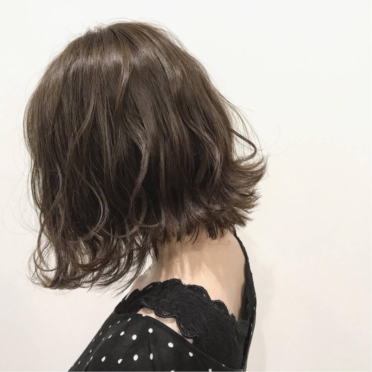 透明感 秋 ボブ 外国人風カラーヘアスタイルや髪型の写真・画像