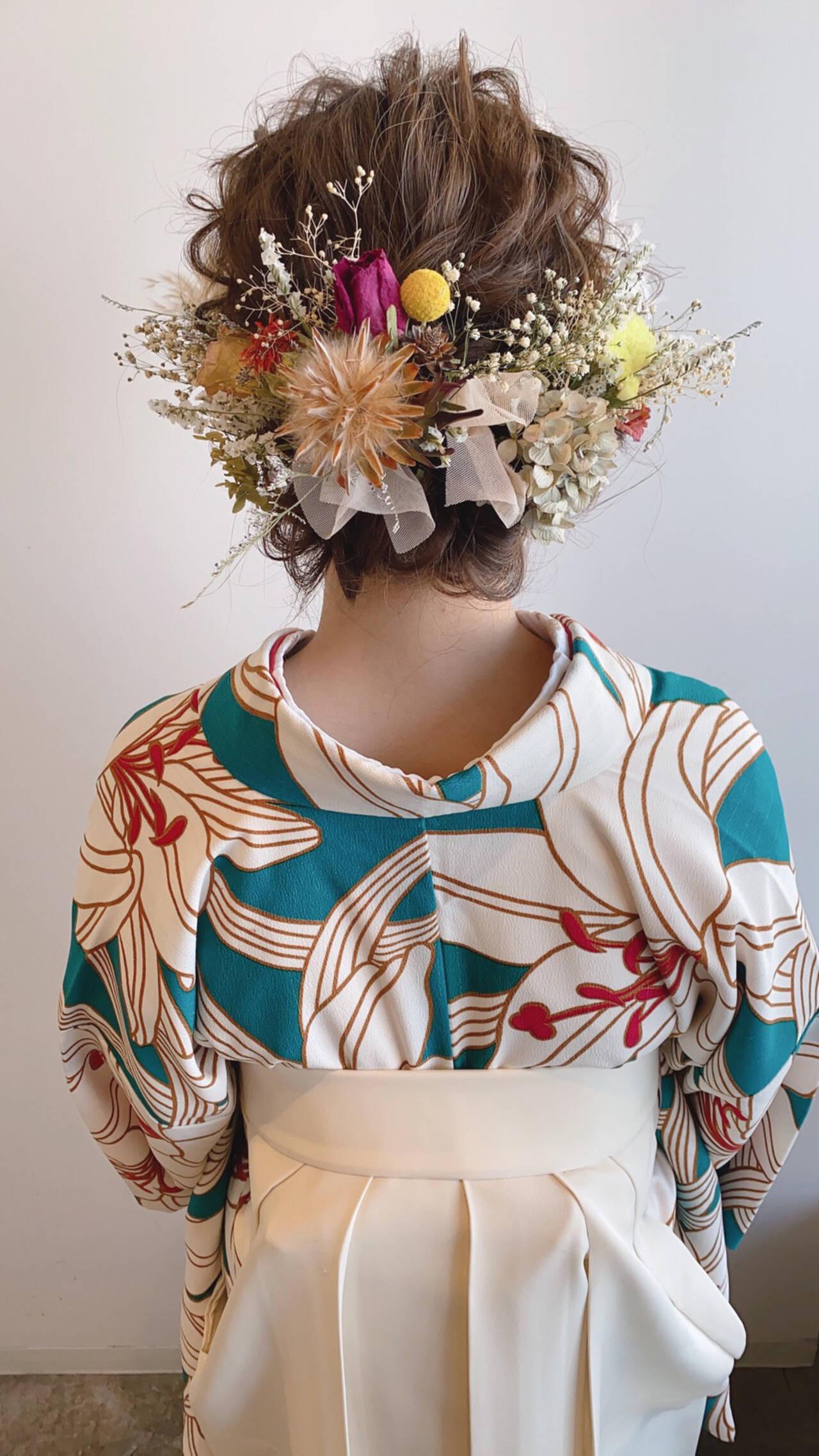 フェミニン 簡単ヘアアレンジ お呼ばれヘア 結婚式ヘアアレンジヘアスタイルや髪型の写真・画像