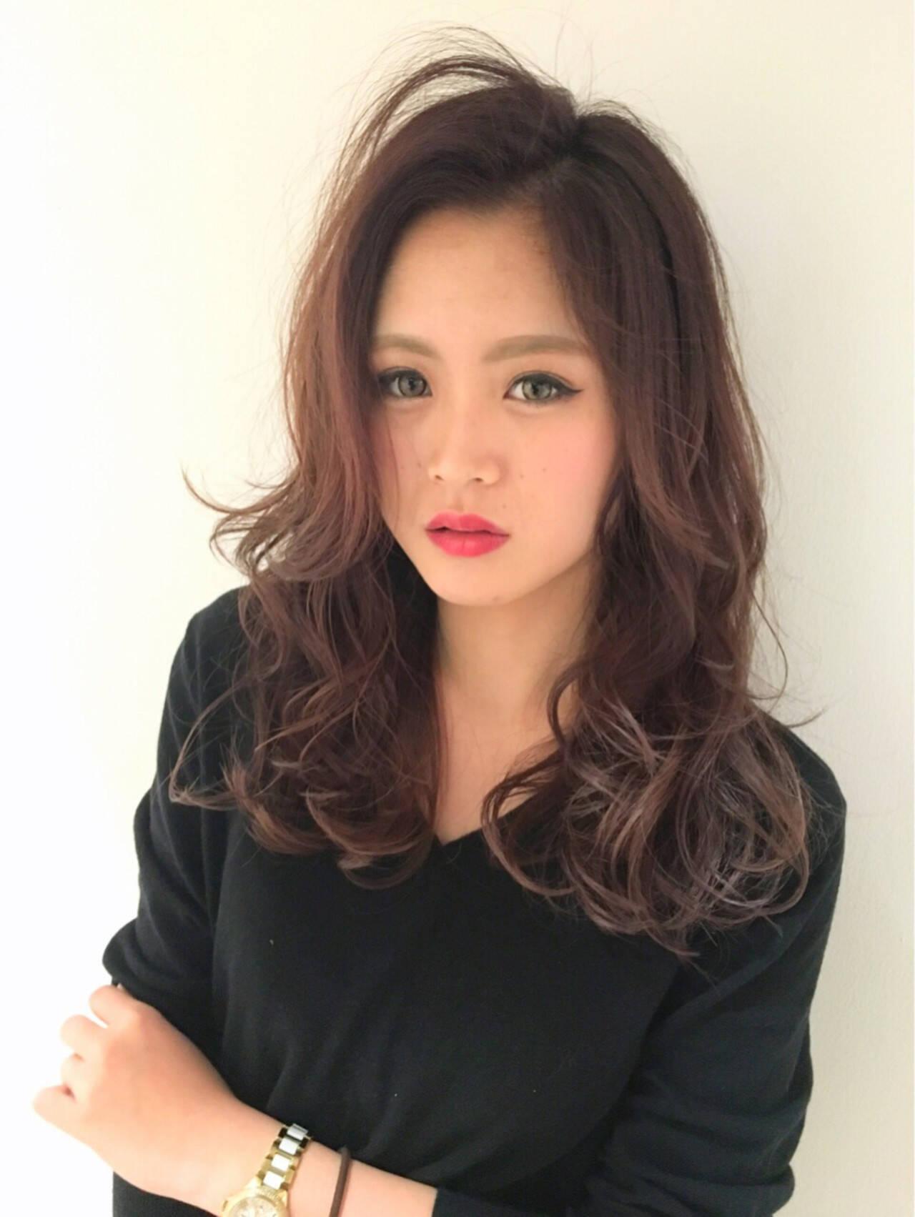 ストリート ピンク ロング 外国人風ヘアスタイルや髪型の写真・画像
