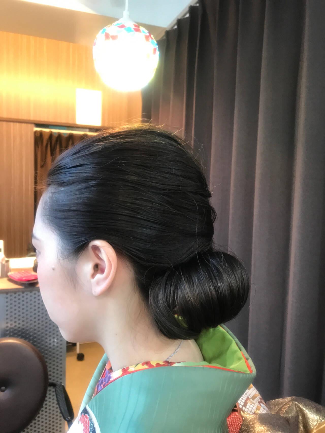 上品 エレガント ミディアム 振袖ヘアスタイルや髪型の写真・画像