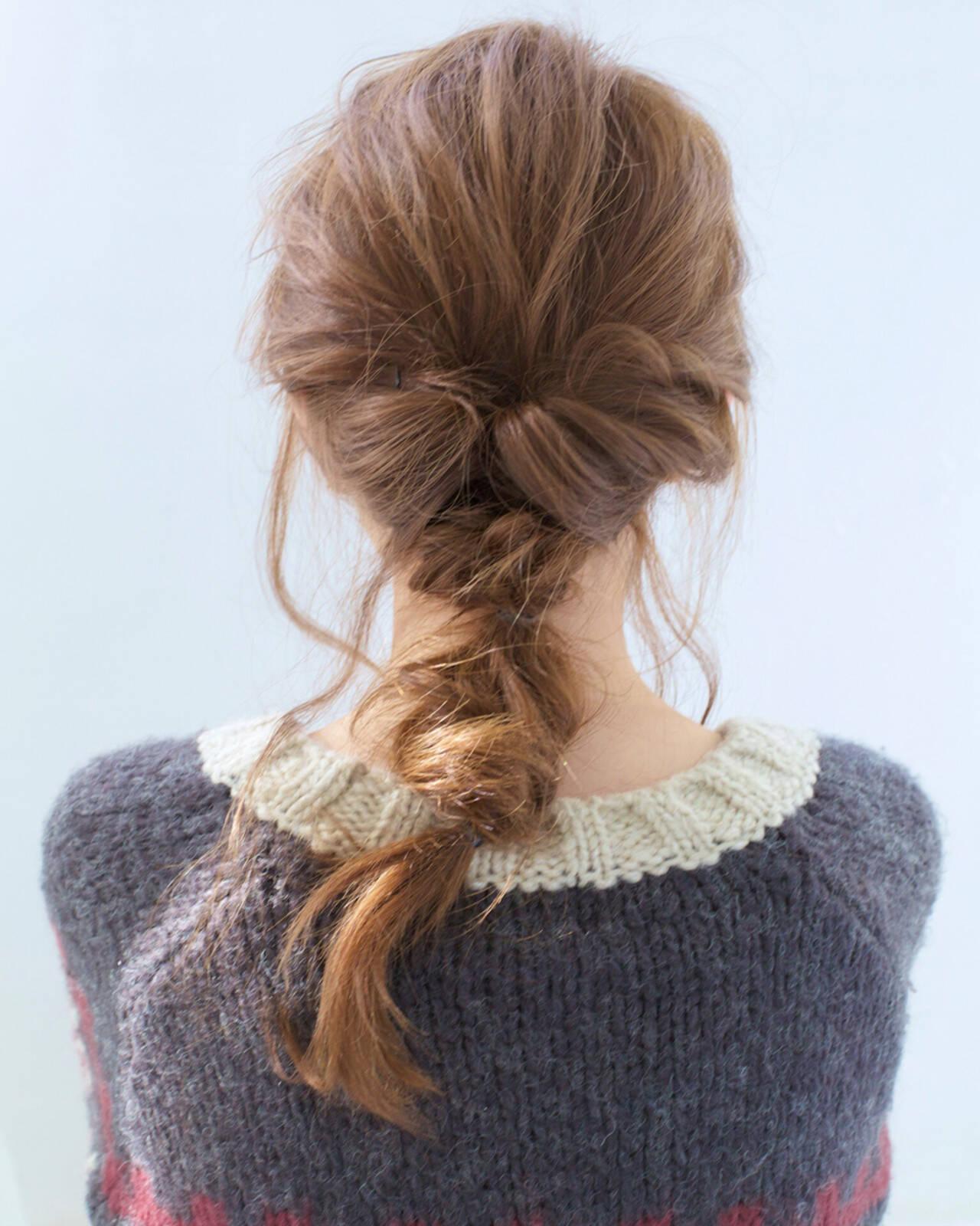 ヘアアレンジ 簡単ヘアアレンジ ショート セミロングヘアスタイルや髪型の写真・画像