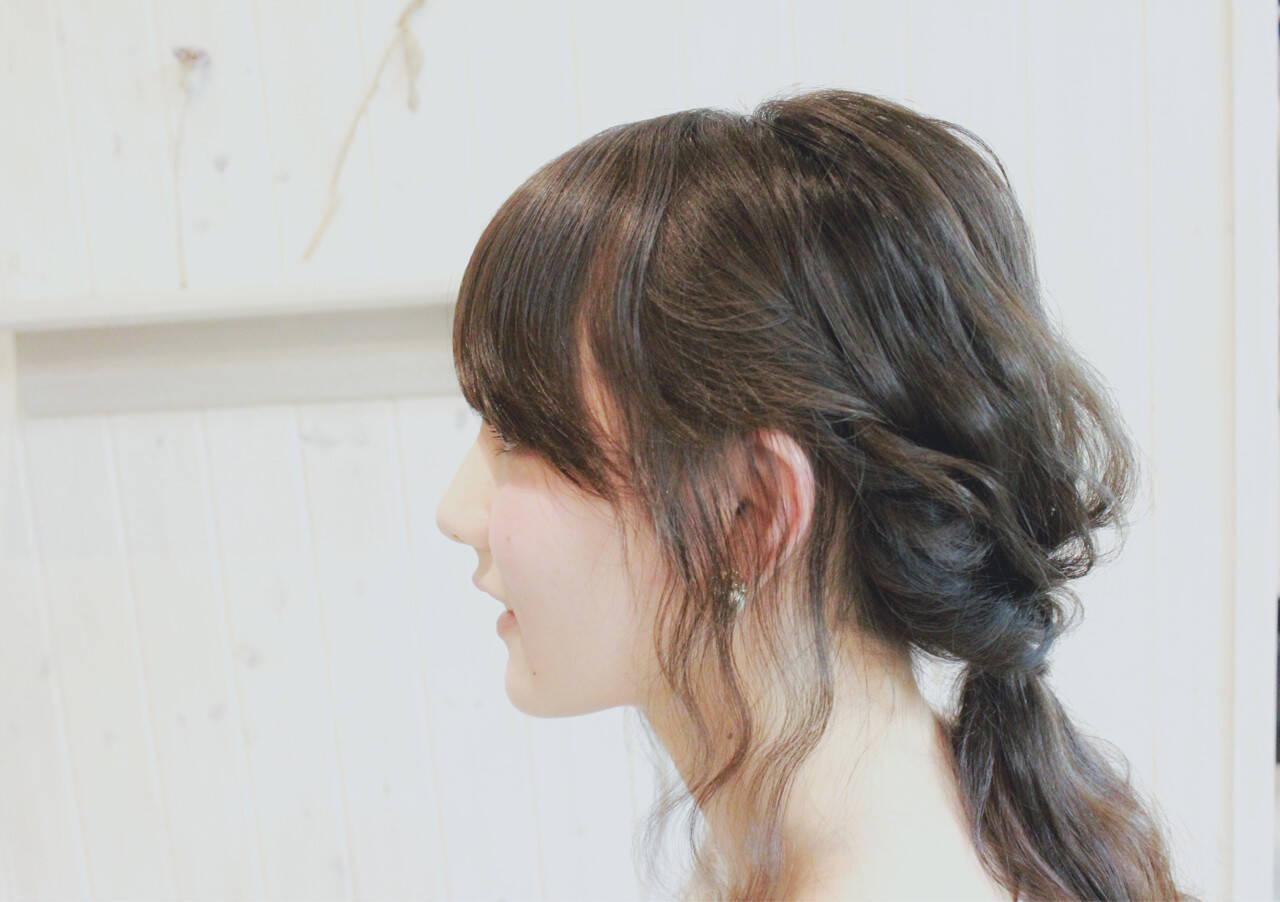 外国人風 ナチュラル ヘアアレンジ 簡単ヘアアレンジヘアスタイルや髪型の写真・画像