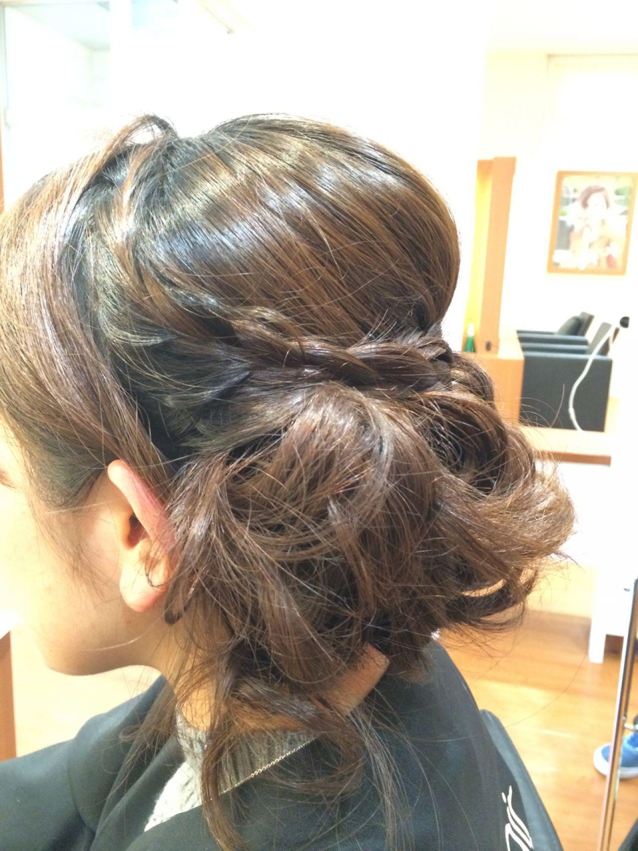 ヘアアレンジ 成人式 コンサバヘアスタイルや髪型の写真・画像