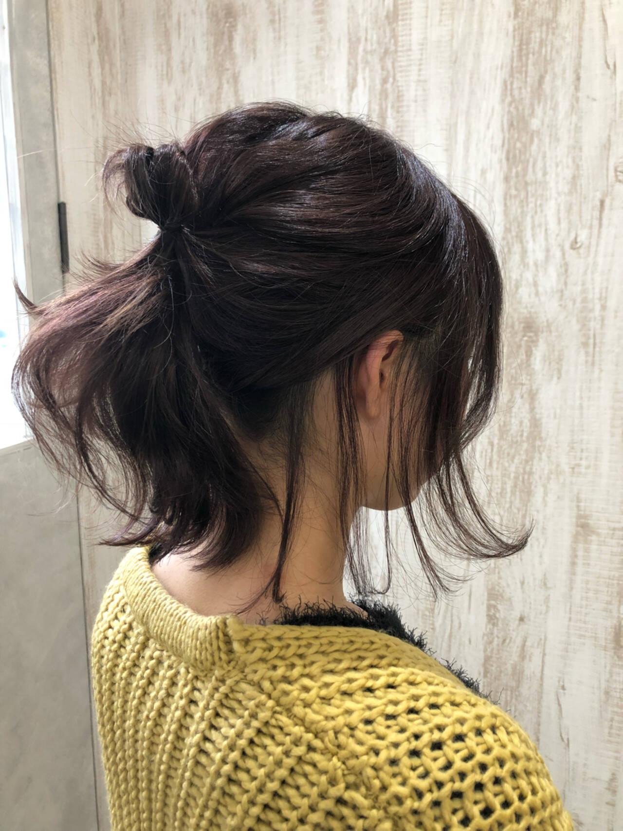 ナチュラル アウトドア ウェーブ 簡単ヘアアレンジヘアスタイルや髪型の写真・画像
