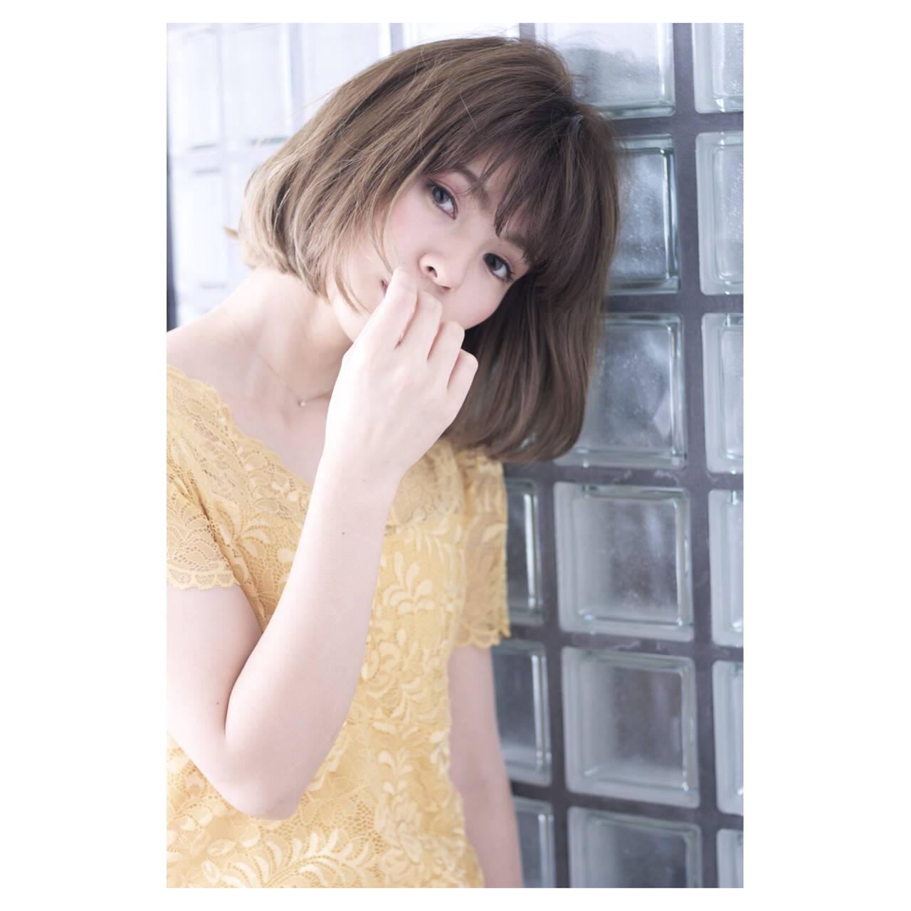 簡単ヘアアレンジ ナチュラル ショート ヘアアレンジヘアスタイルや髪型の写真・画像