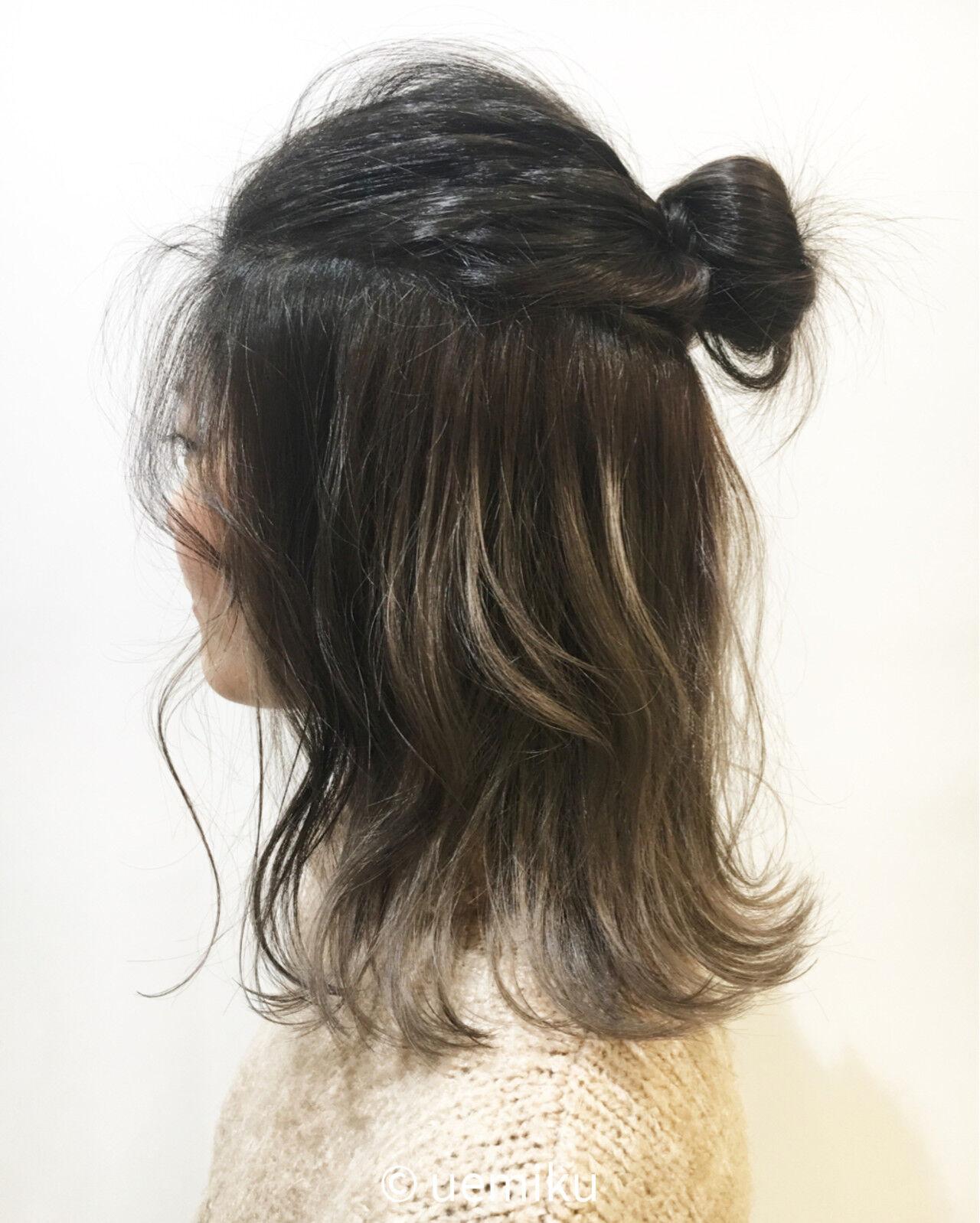 ショート ミディアム インナーカラー ストリートヘアスタイルや髪型の写真・画像