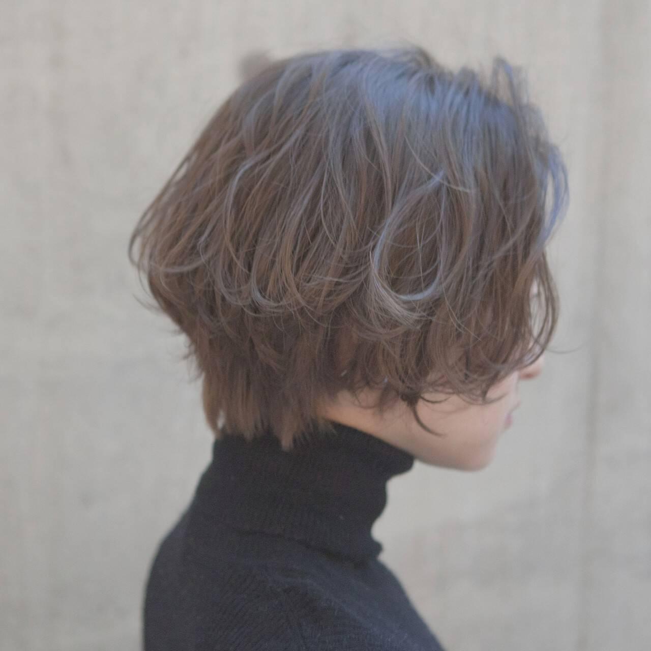 似合わせ 外ハネ 小顔 ショートヘアスタイルや髪型の写真・画像