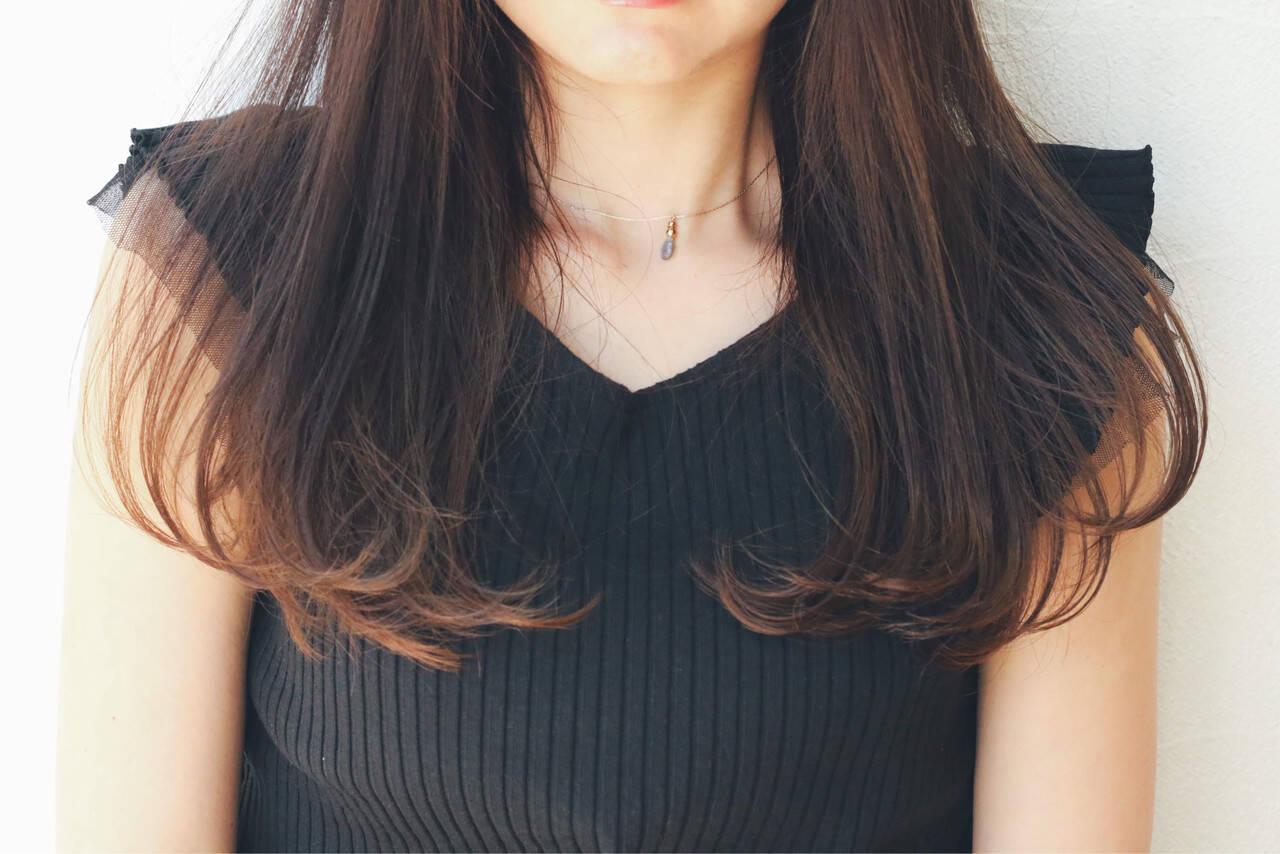 黒髪 抜け感 モード レイヤーカットヘアスタイルや髪型の写真・画像