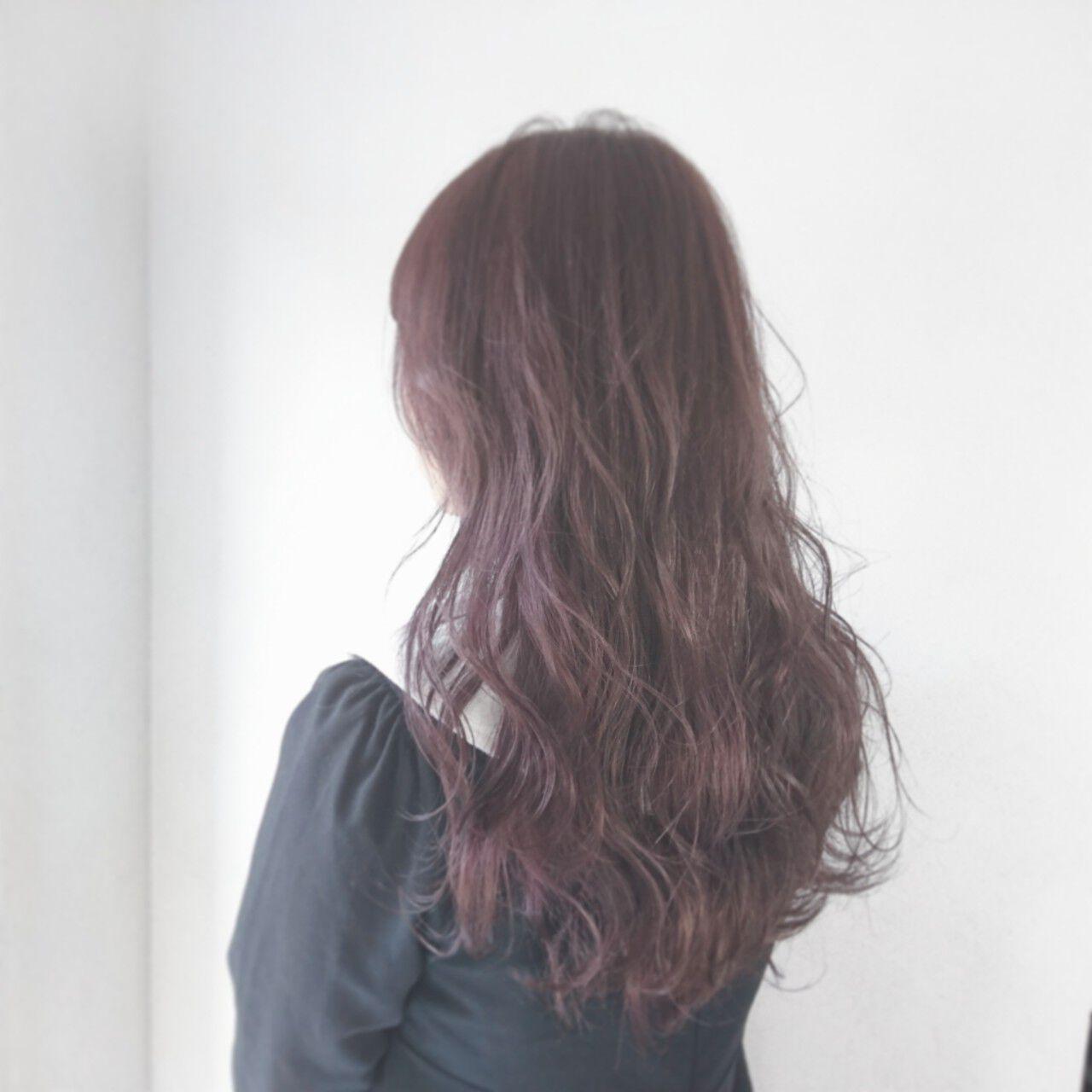 ピンク オルチャン 透明感 ガーリーヘアスタイルや髪型の写真・画像