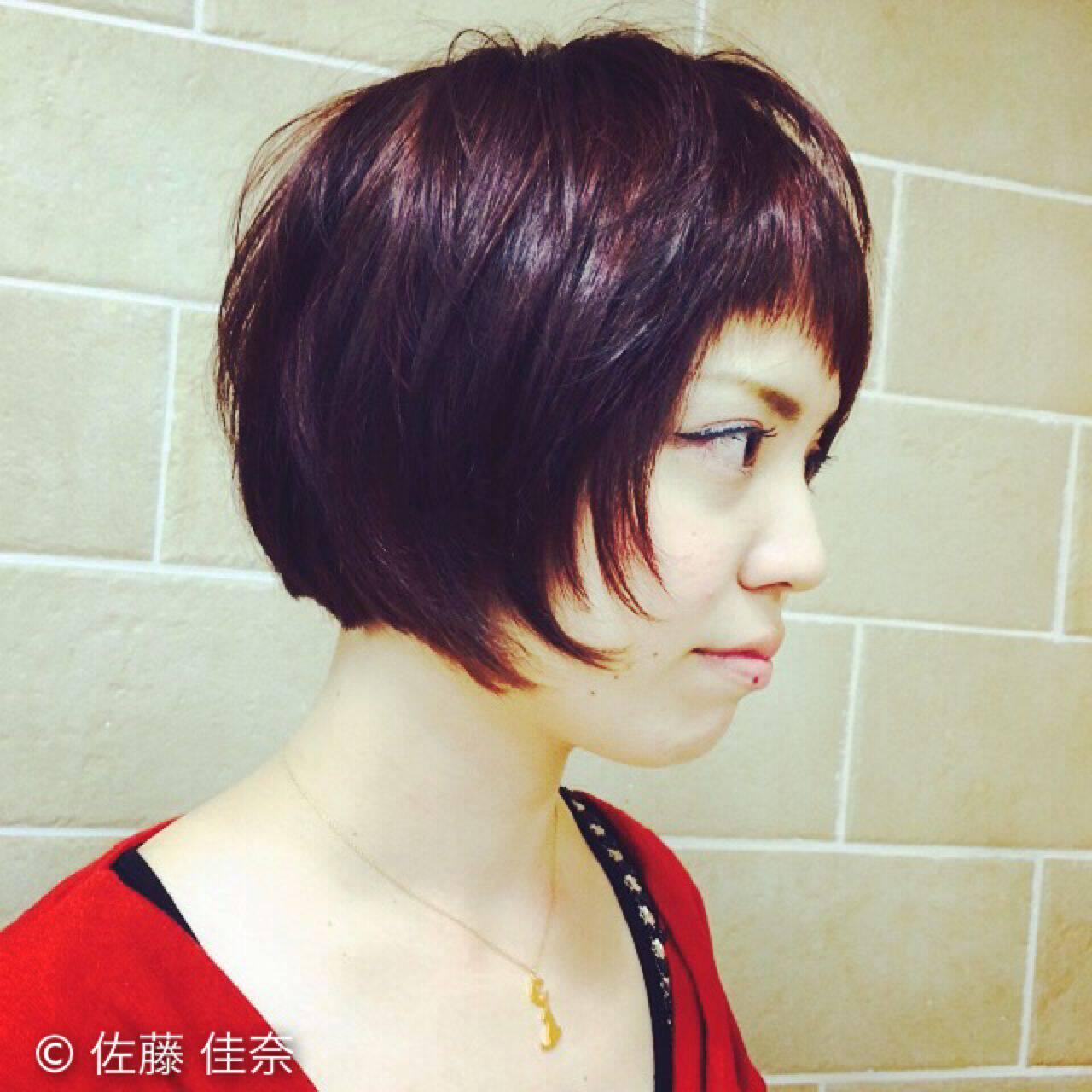 ガーリー 卵型 ストリート 丸顔ヘアスタイルや髪型の写真・画像