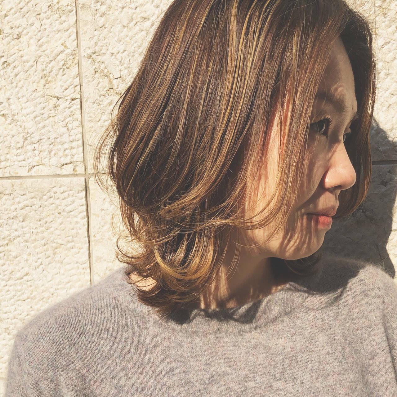 レイヤー ウルフ ハイライト ヘアアレンジヘアスタイルや髪型の写真・画像